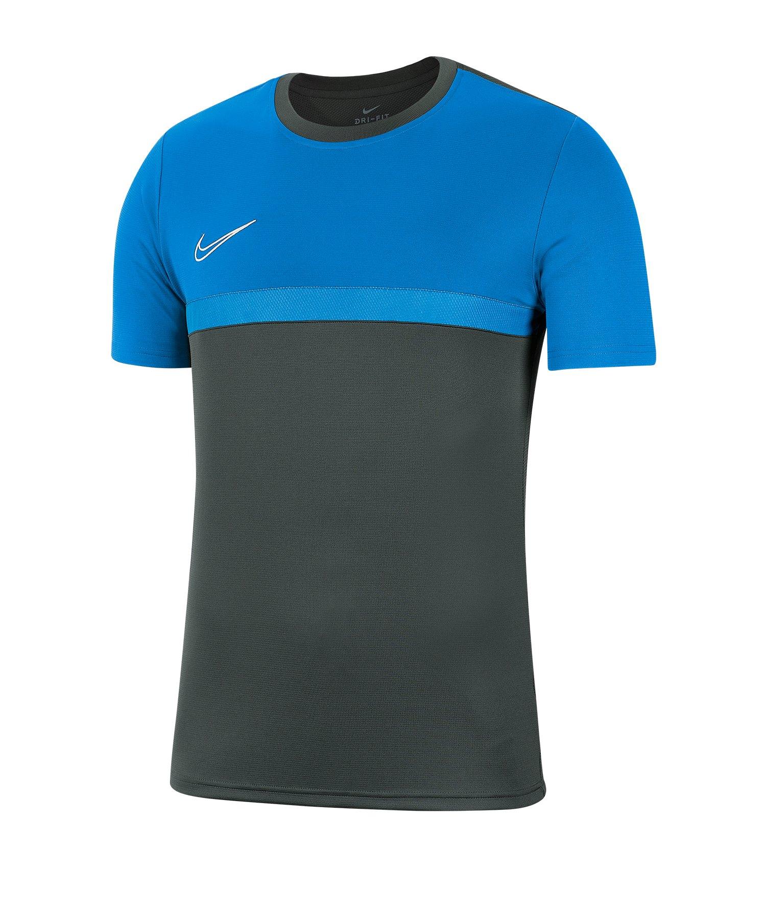 Nike Academy Pro T-Shirt Grau Blau F075 - grau