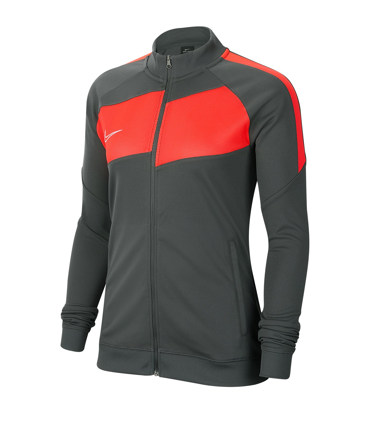 Nike Academy Pro Jacke Damen Grau Rot F068 - grau