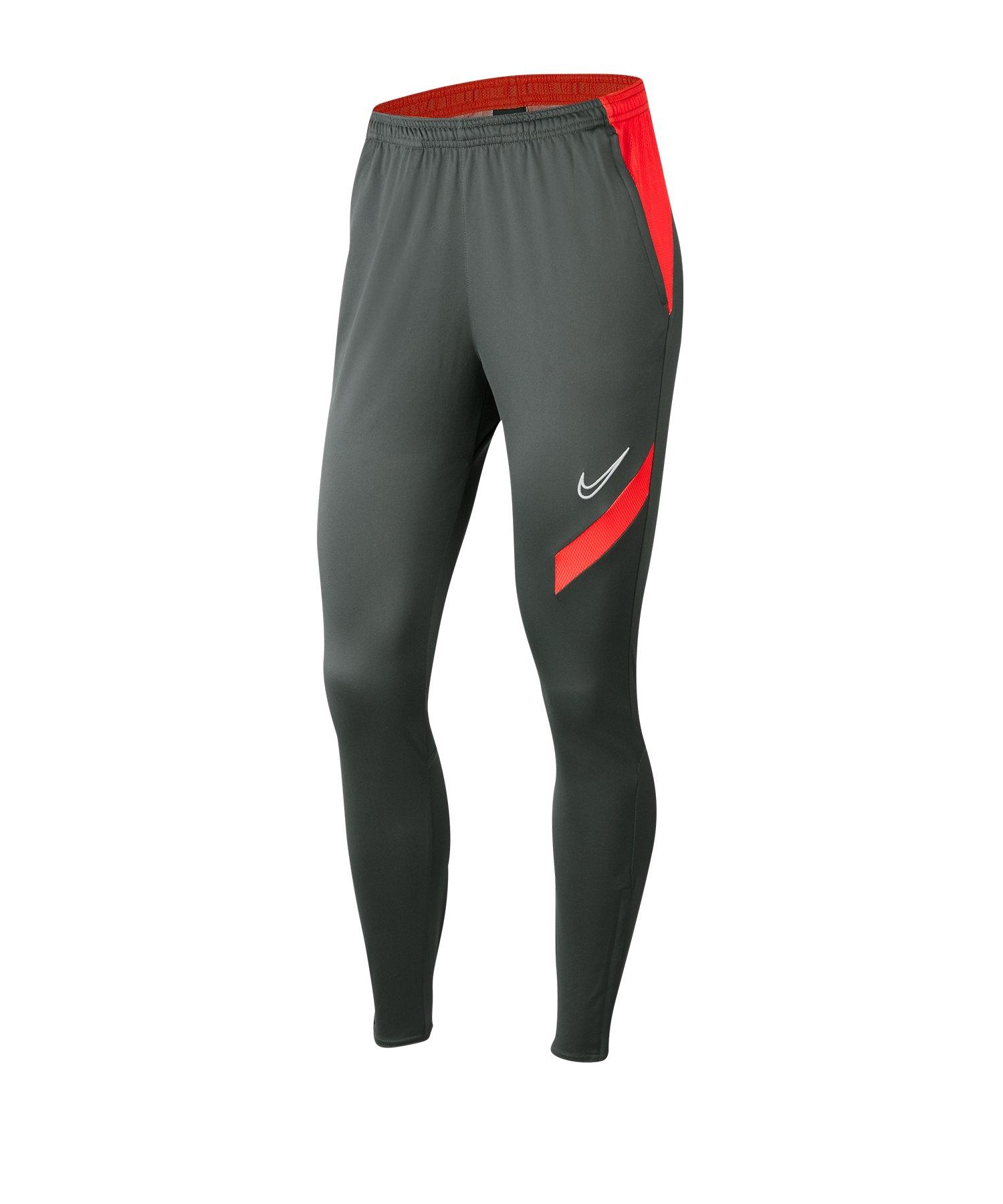 Nike Academy Pro Pants Damen Grau Rot F067 - grau