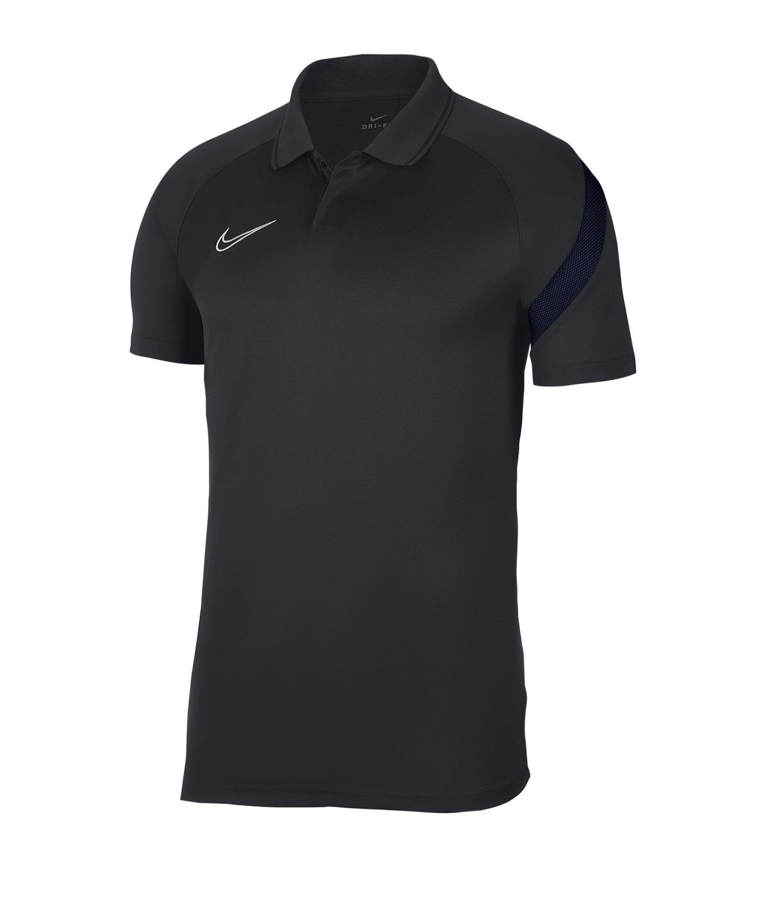 Nike Academy Pro Poloshirt Kids Grau Blau F064 - grau