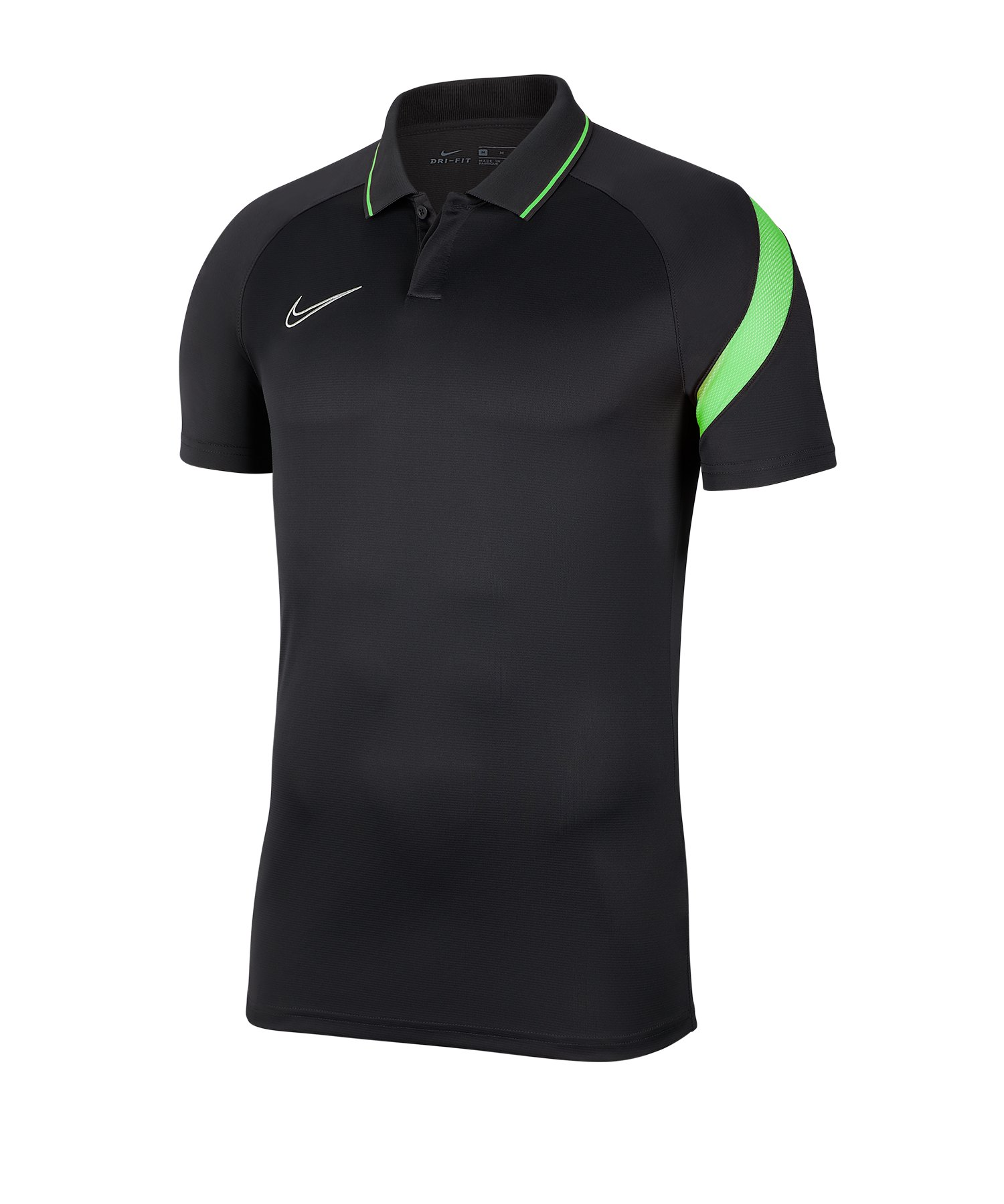 Nike Academy Pro Poloshirt Kids Grau Grün F060 - grau