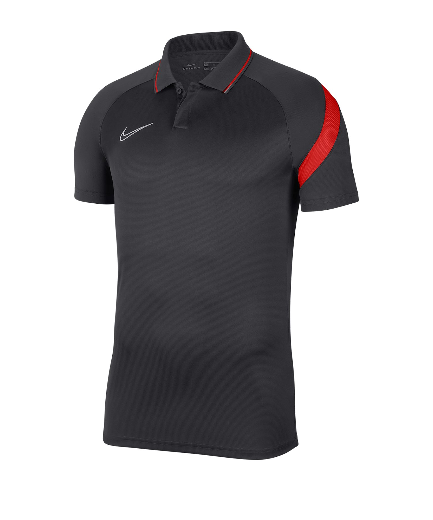 Nike Academy Pro Poloshirt Kids Grau Rot F068 - grau