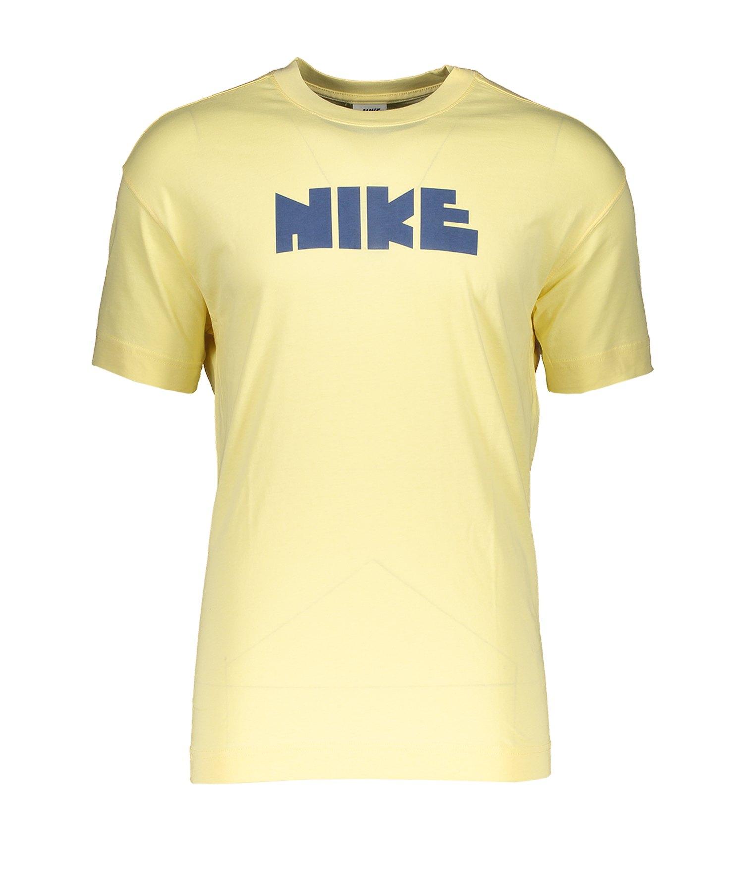 Nike T-Shirt Gelb Blau F746 - Gelb