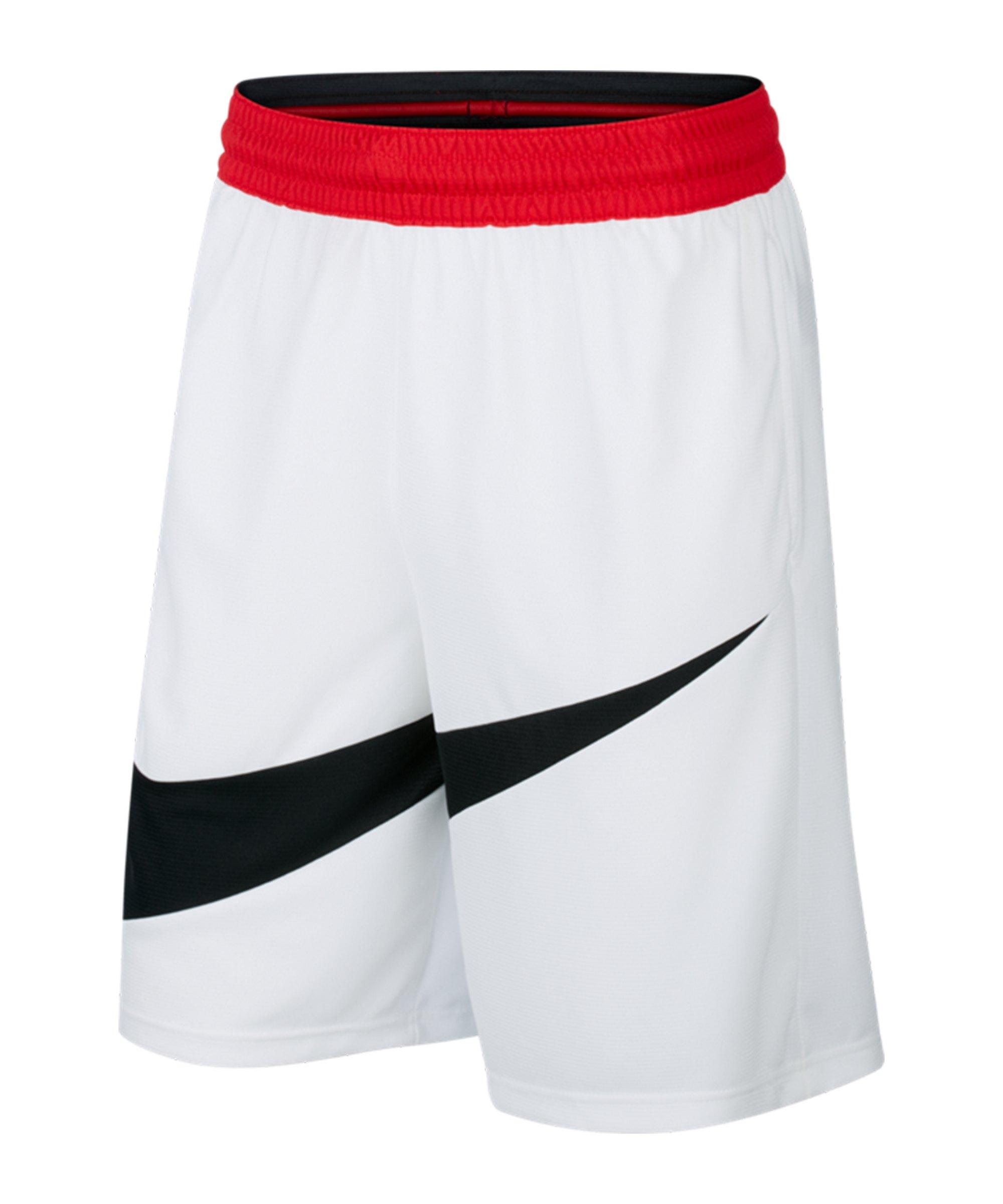 Nike HBR 2.0 Short Weiss Schwarz F100 - weiss