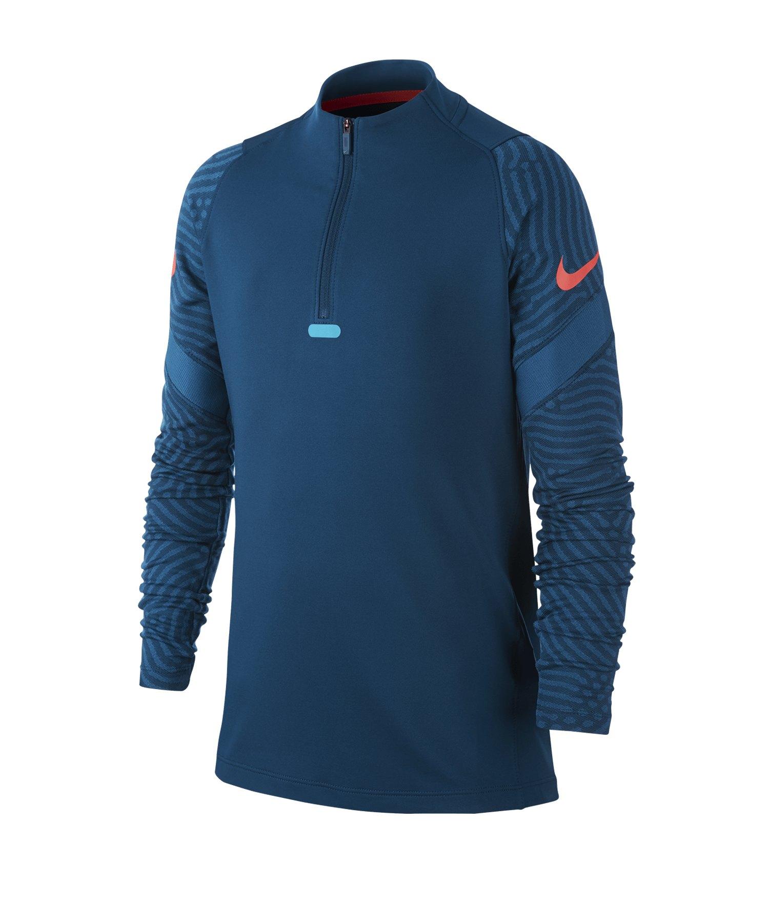 Nike Dri-FIT Strike Drill Top langarm Kids F432 - blau