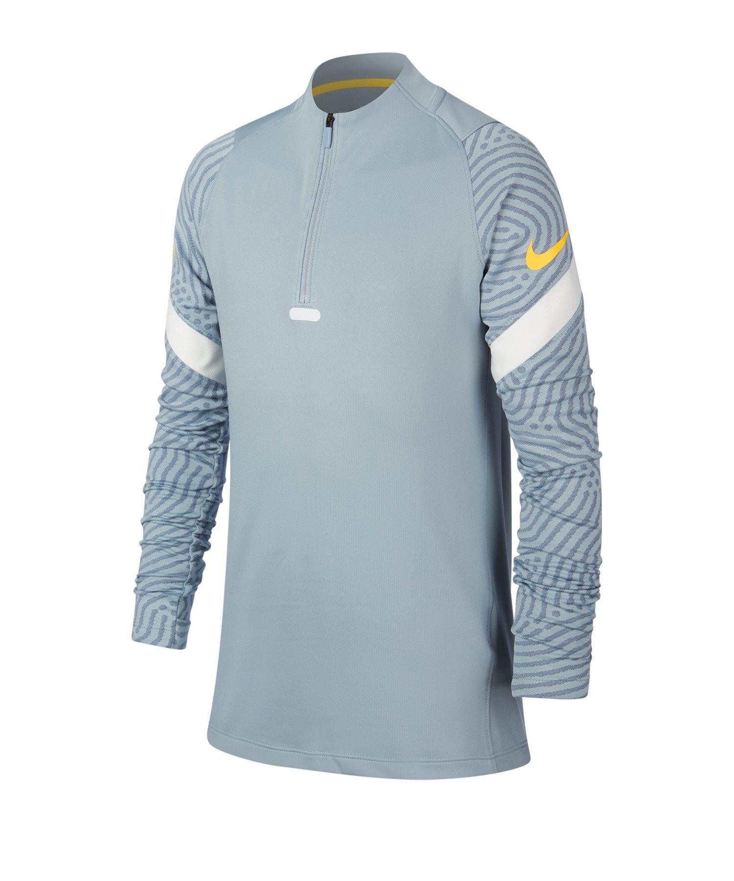 Nike Dri-FIT Strike Drill Top langarm Kids F464 - blau