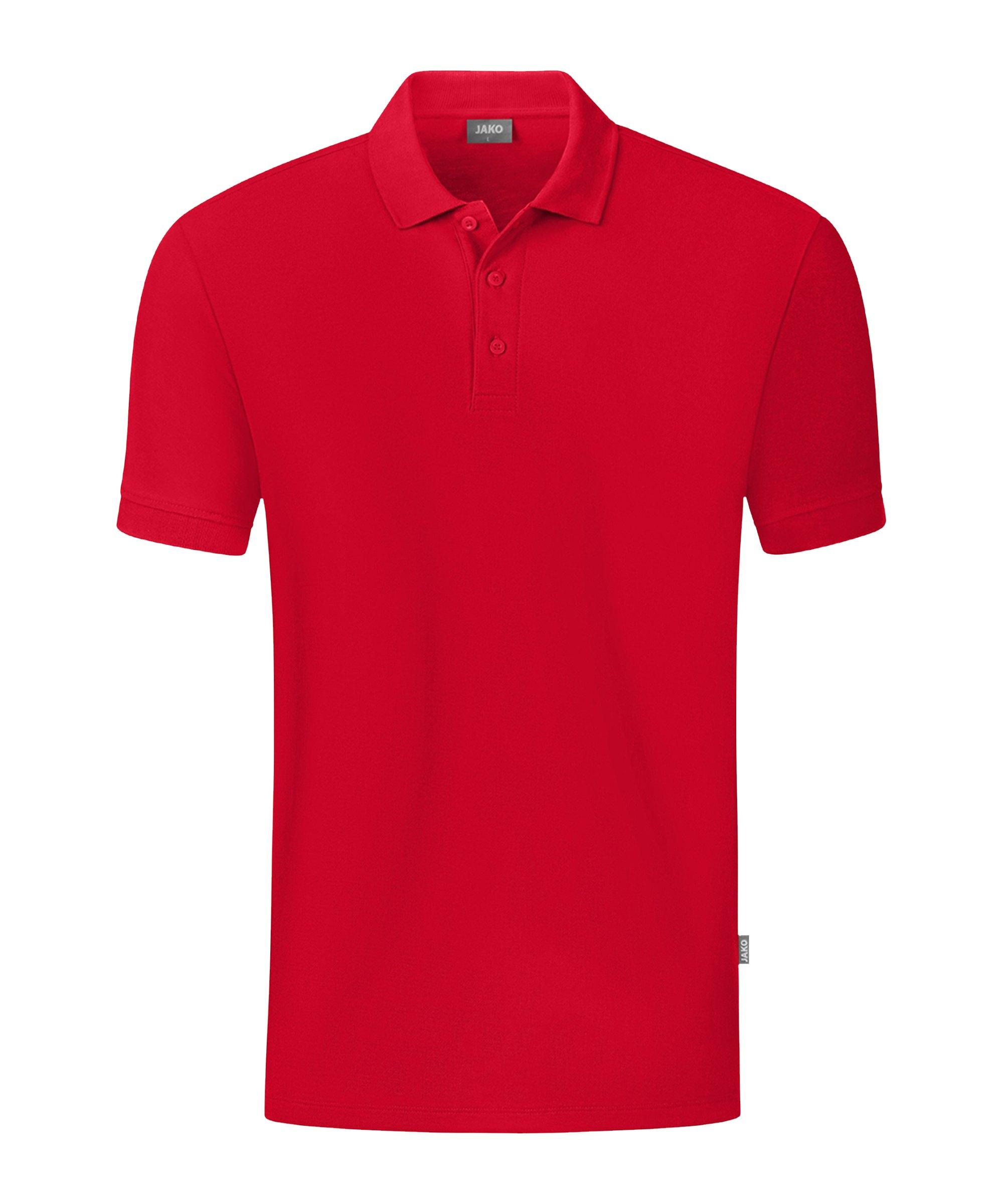 JAKO Organic Polo Shirt Rot F100 - rot
