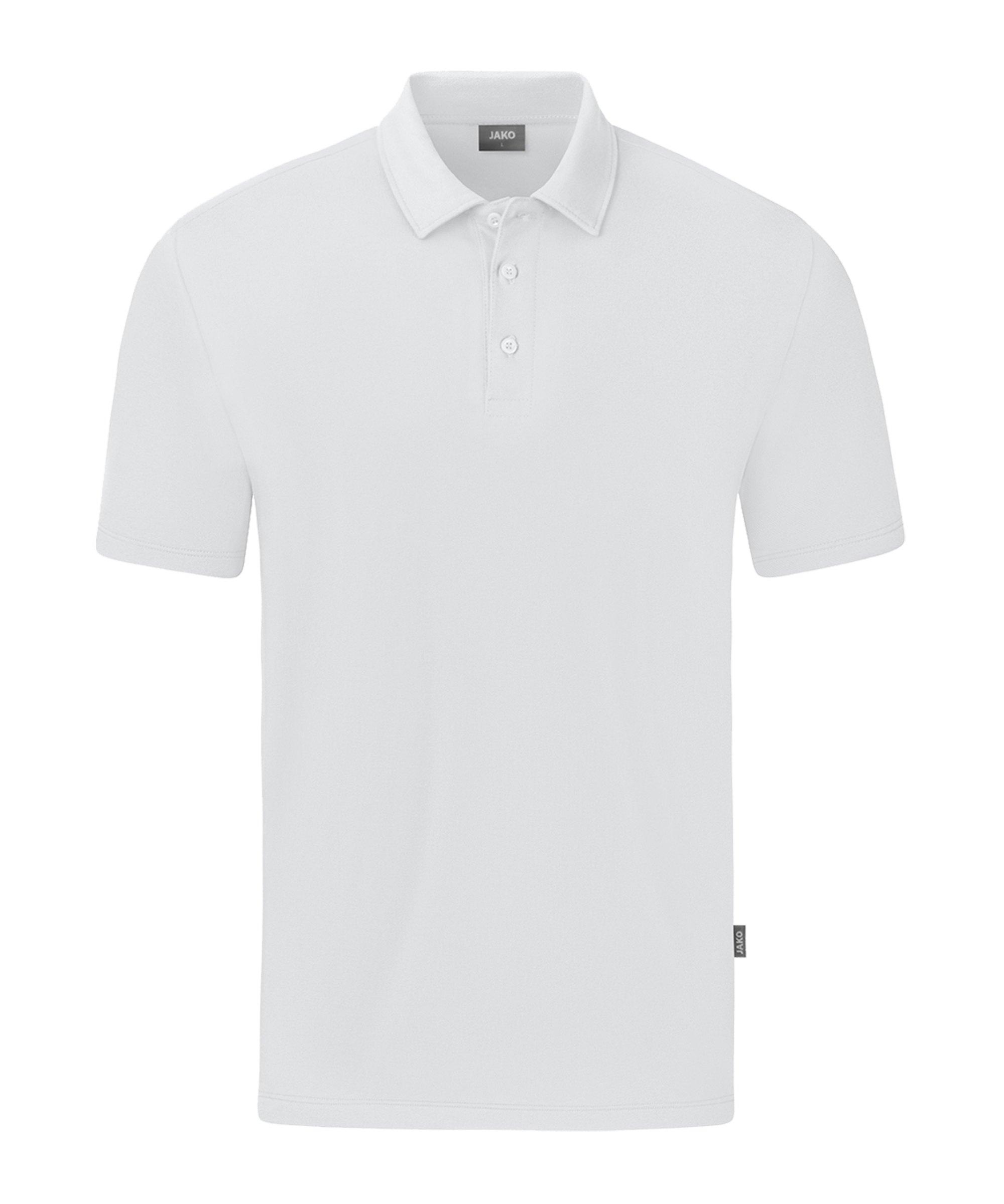 JAKO Organic Stretch Polo Shirt Weiss F000 - weiss