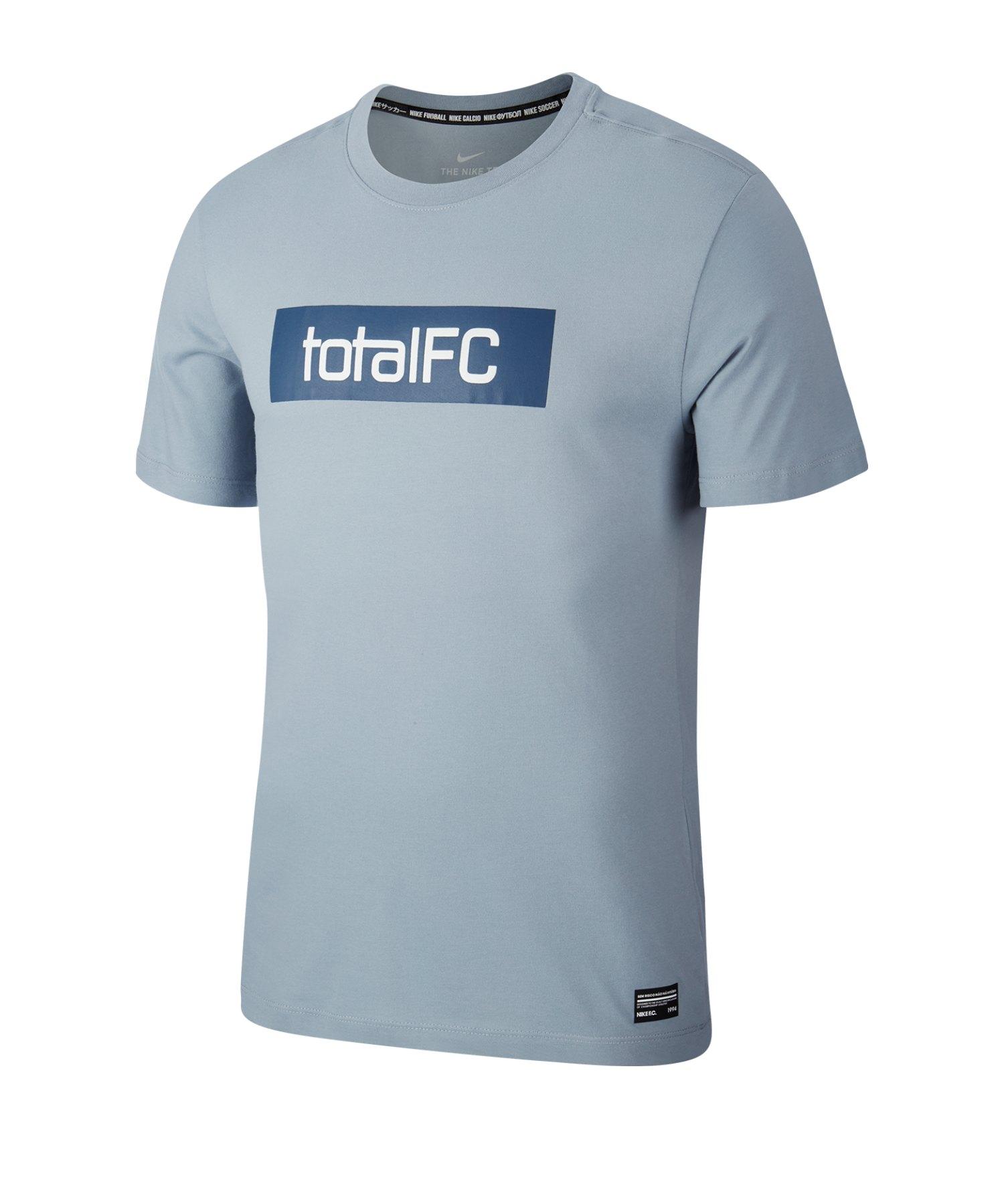 Nike F.C. Dri-FIT Trainingsshirt kurzarm Blau F464 - blau