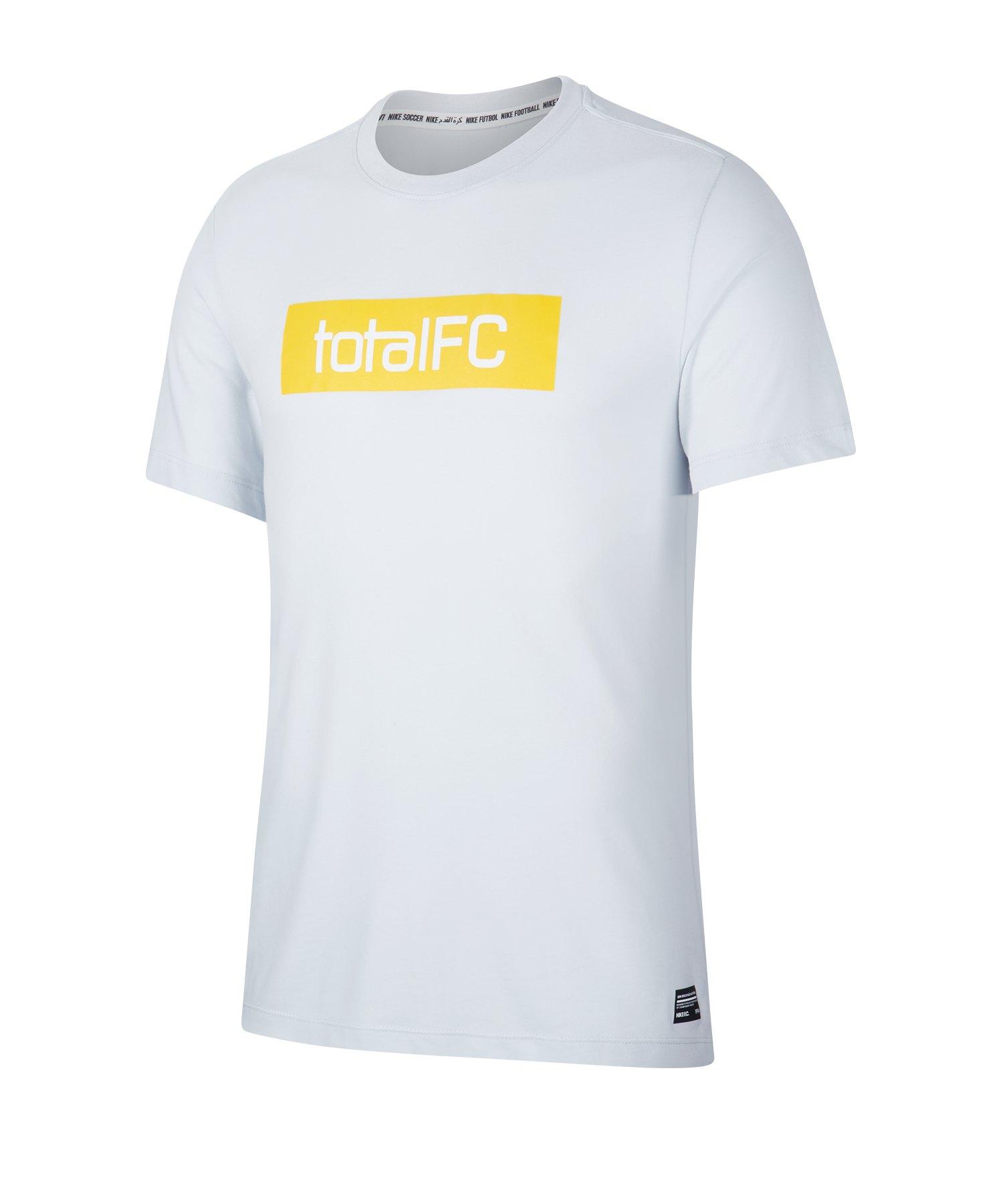 Nike F.C. Dri-FIT Trainingsshirt kurzarm Grau F043 - grau