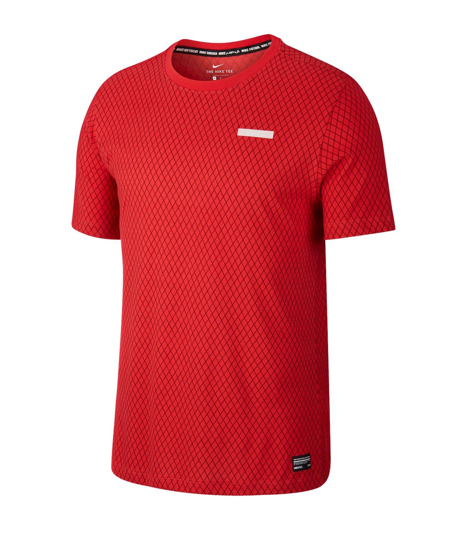 Nike F.C. Dri-FIT Trainingsshirt kurzarm Rot F631 - rot