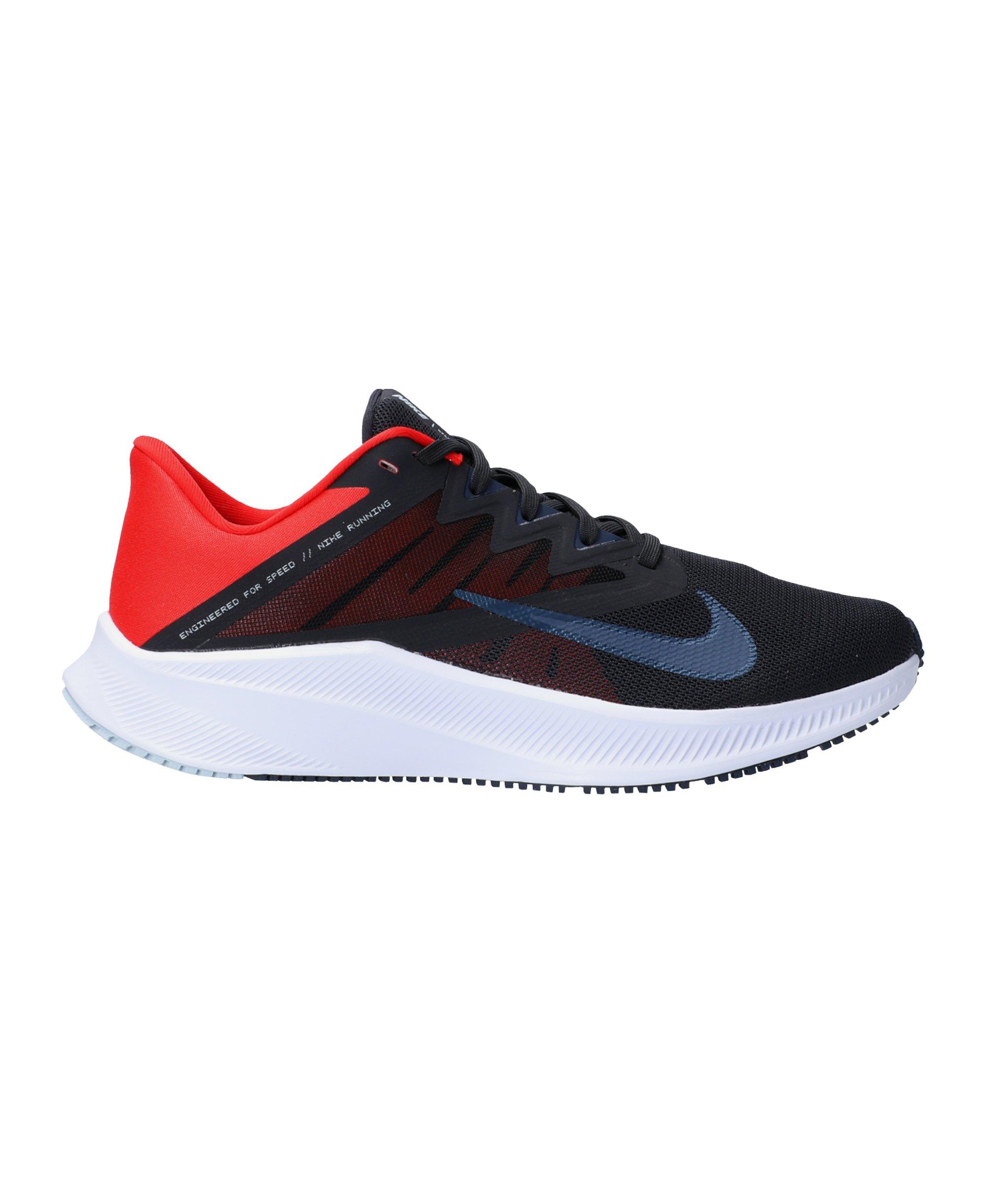 Nike Quest 3 Running Schwarz Rot F016 - grau