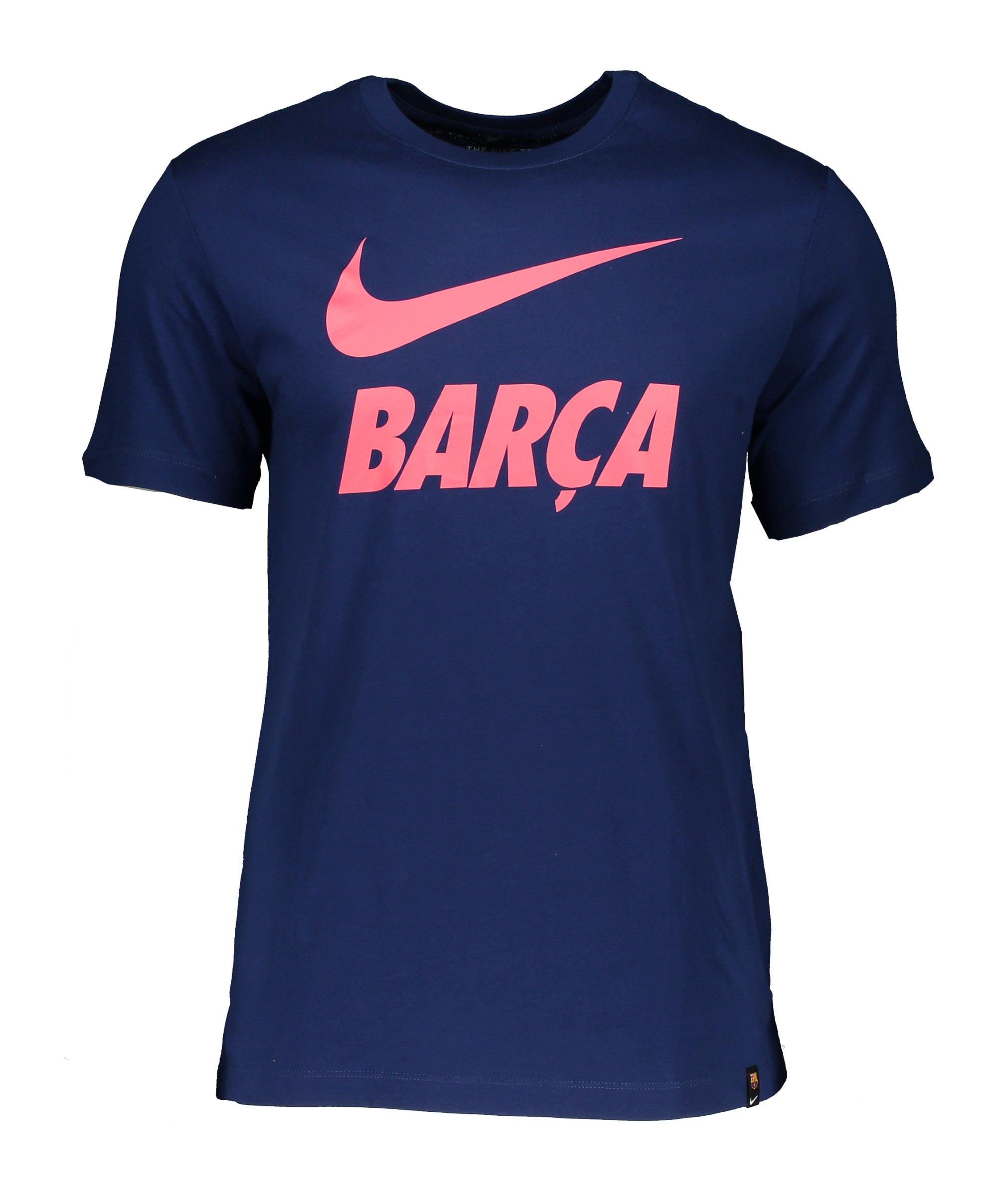 Nike FC Barcelona Tee T-Shirt TR Ground F492 - blau