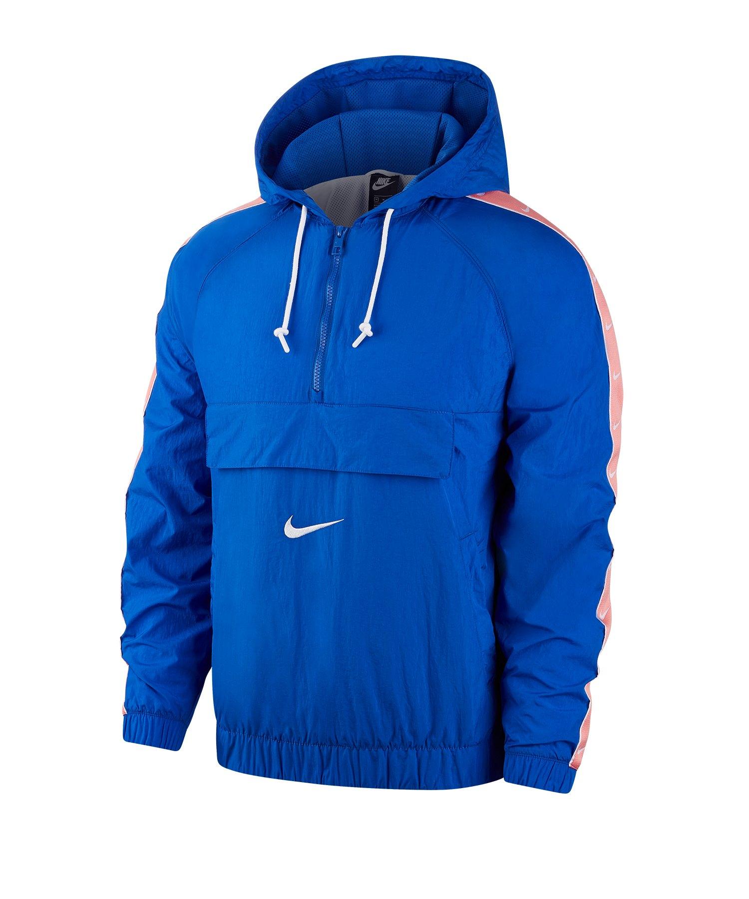 Nike Woven Swoosh Kapuzenjacke Blau F480 - blau