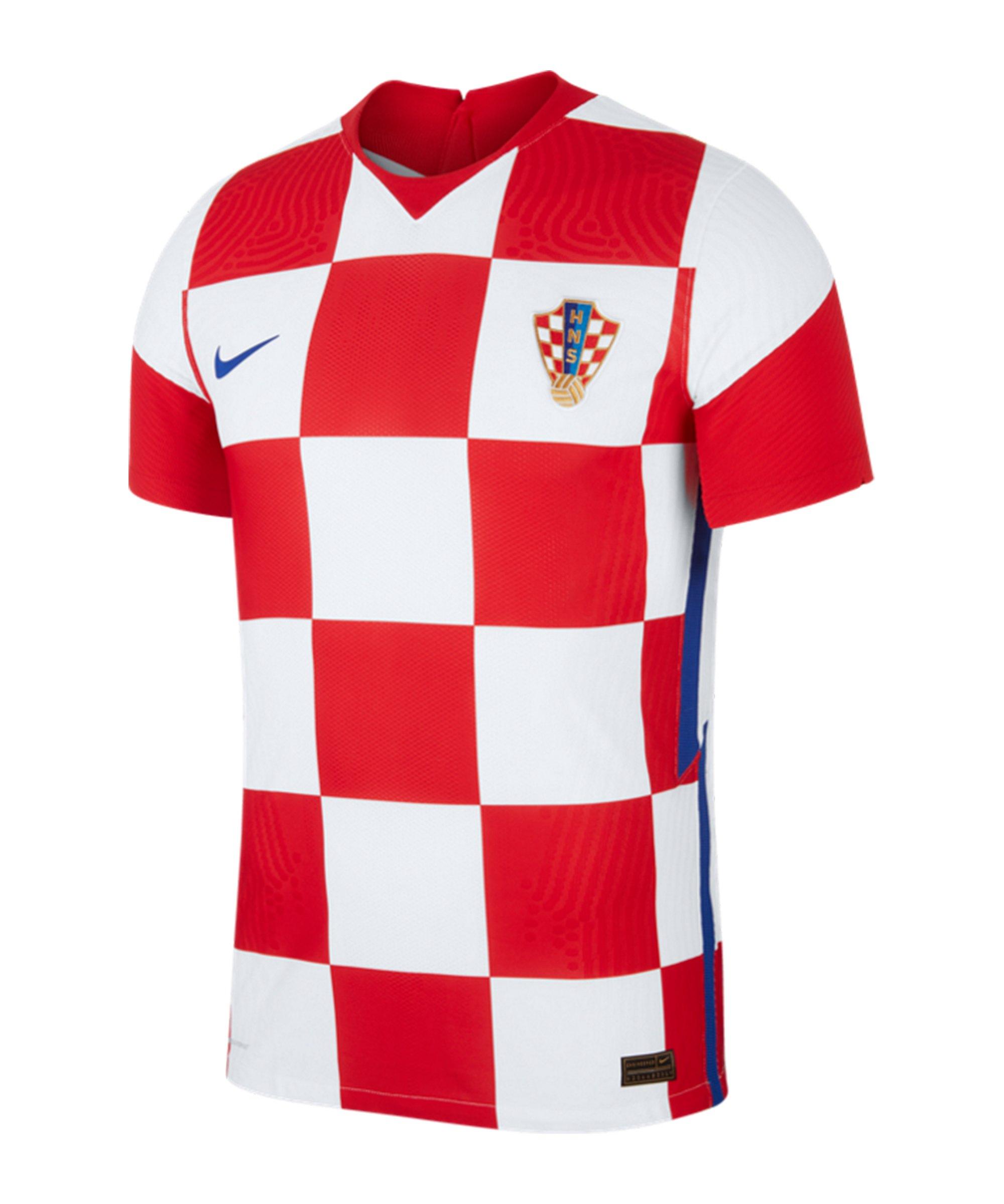 Nike Kroatien Auth. Trikot Home EM 2020 F100 - weiss