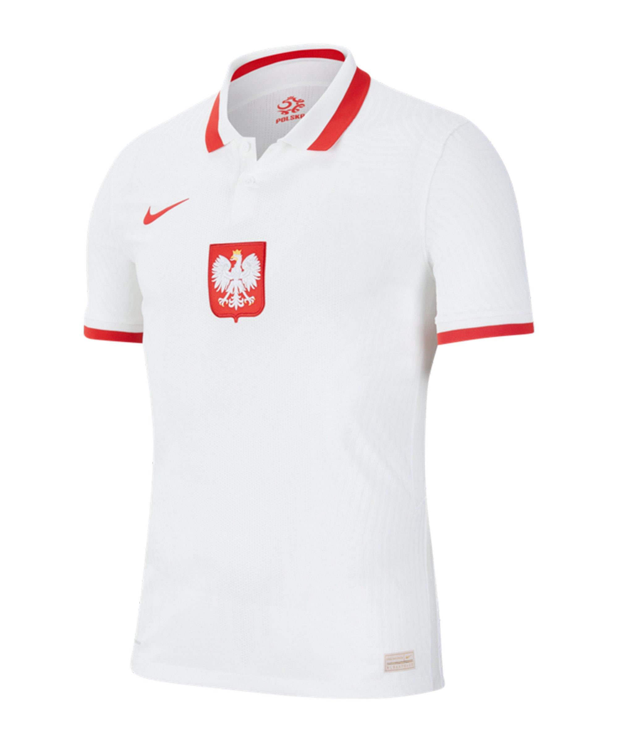 Nike Polen Auth. Trikot Home EM 2020 Weiss F100 - weiss