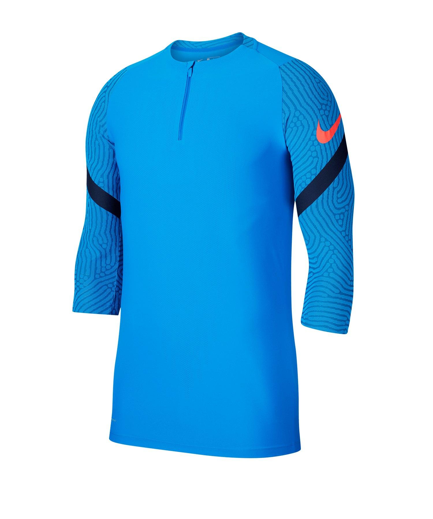 Nike Strike Vaporknit 1/4 Zip Drill Top LS F410 - blau
