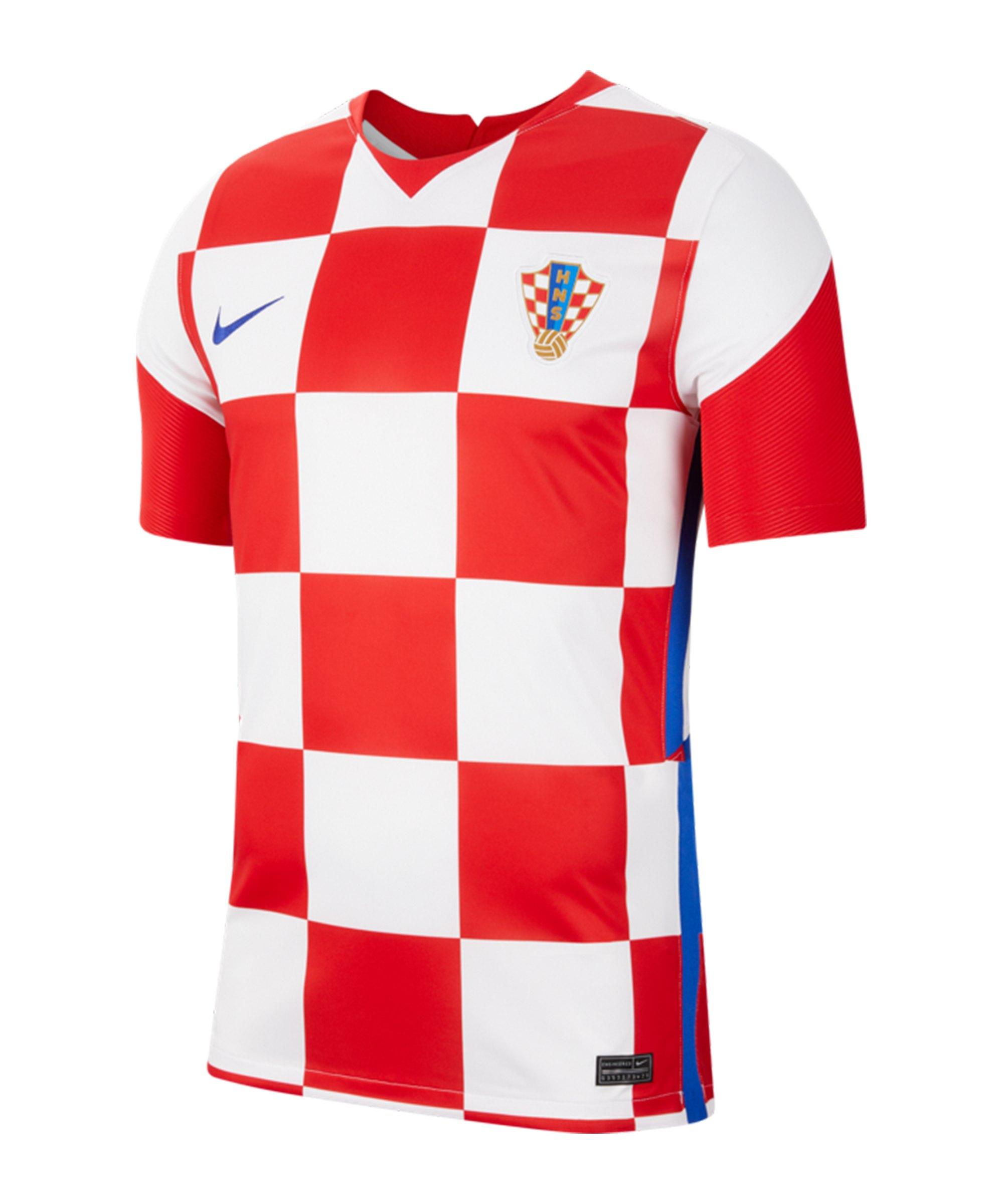 Nike Kroatien Trikot Home EM 2020 Weiss F100 - weiss