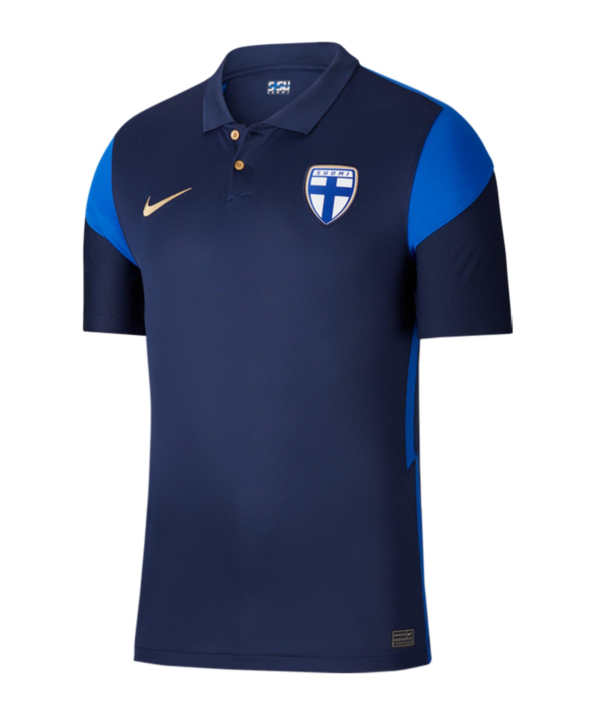 Nike Finnland Trikot Away EM 2020 Blau F410 - blau