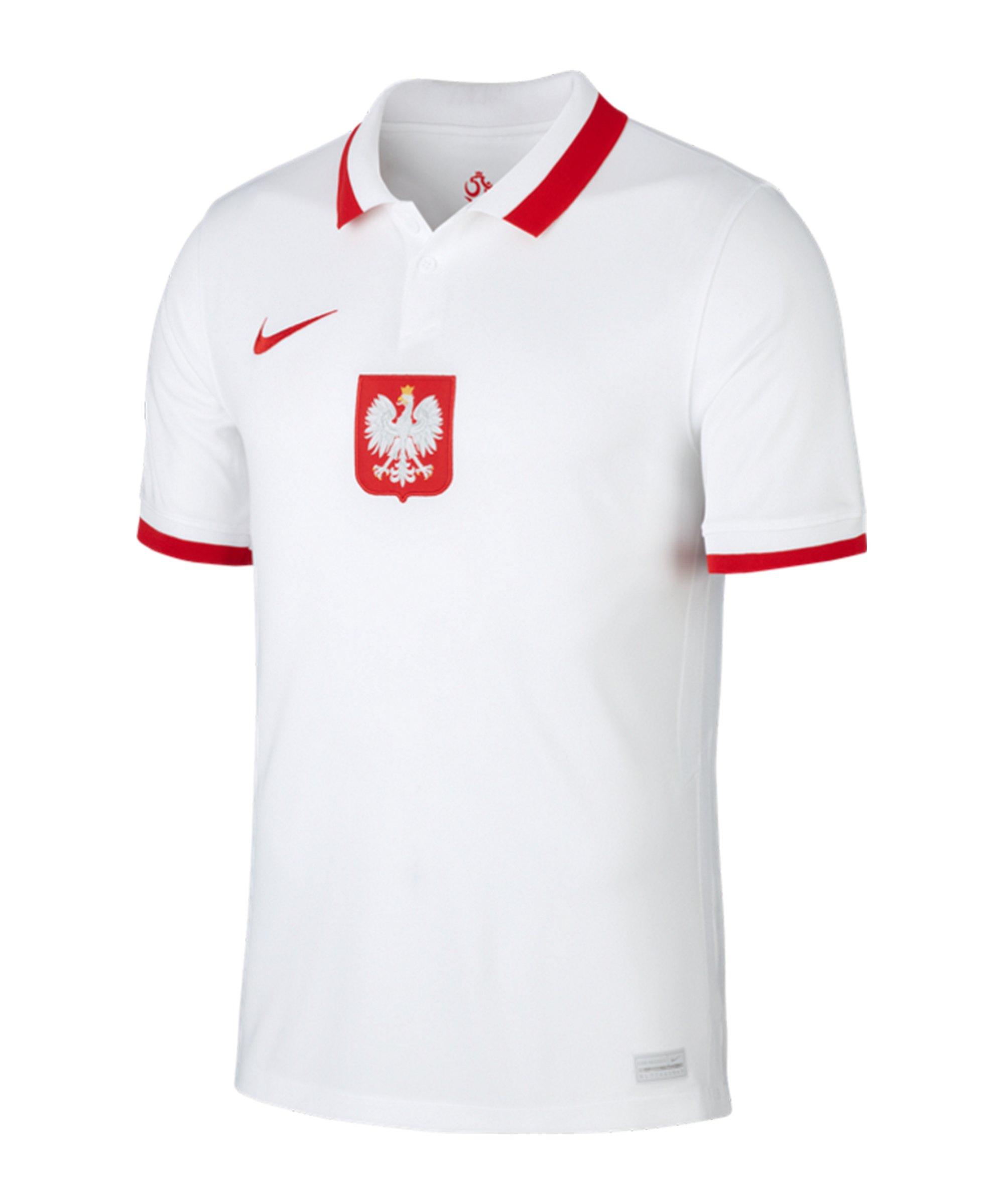 Nike Polen Trikot Home EM 2020 Weiss Rot F100 - weiss