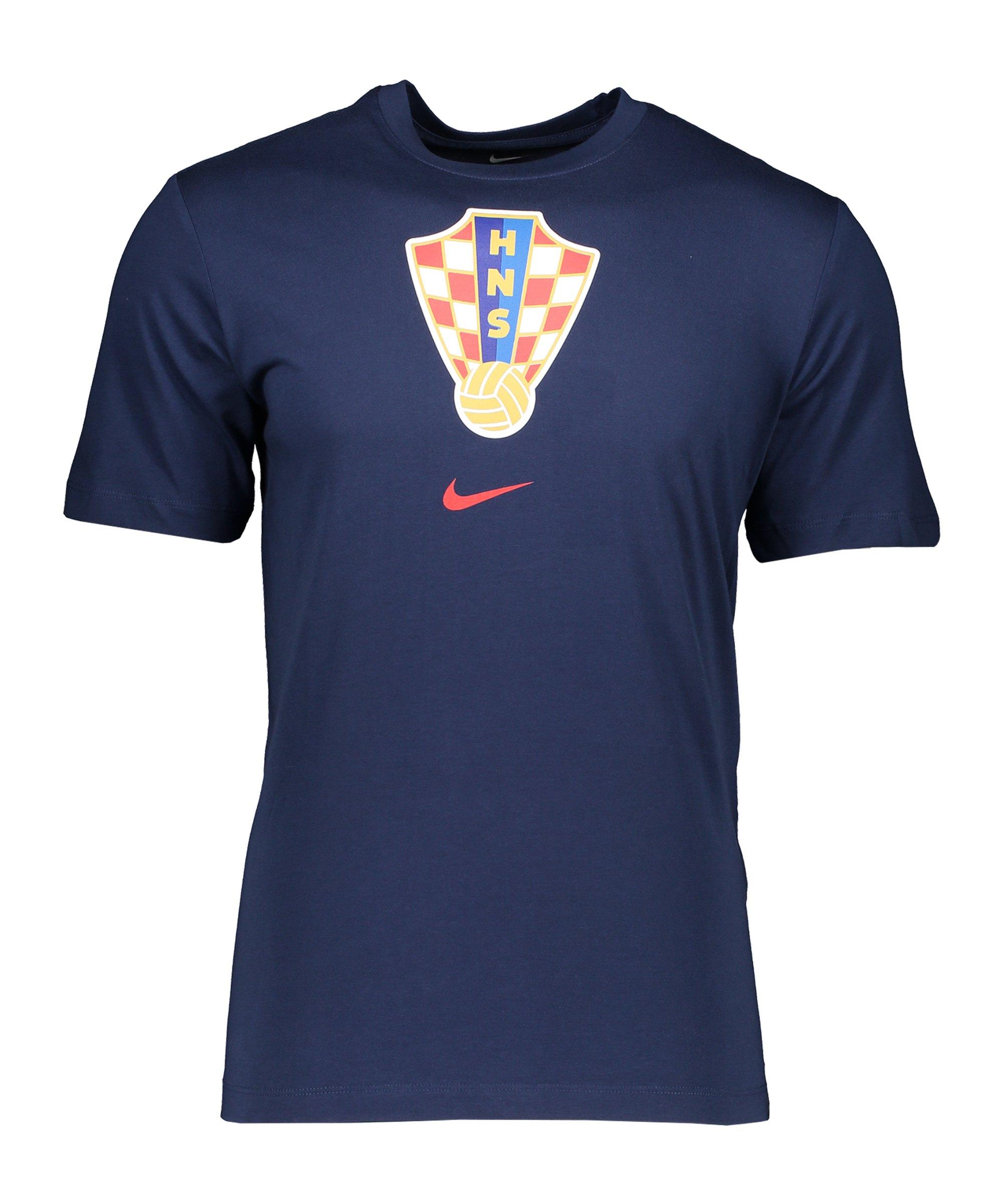 Nike Kroatien Evergreen Crest Tee T-Shirt F410 - blau
