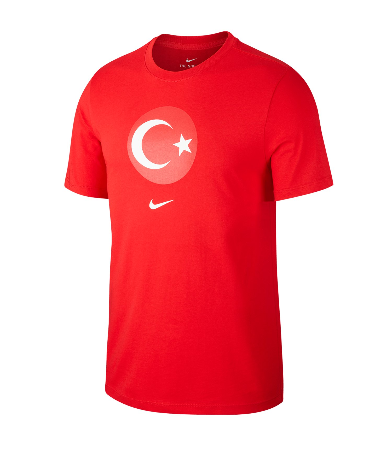 Nike Türkei Crew T-Shirt Evergreen Rot F657 - rot