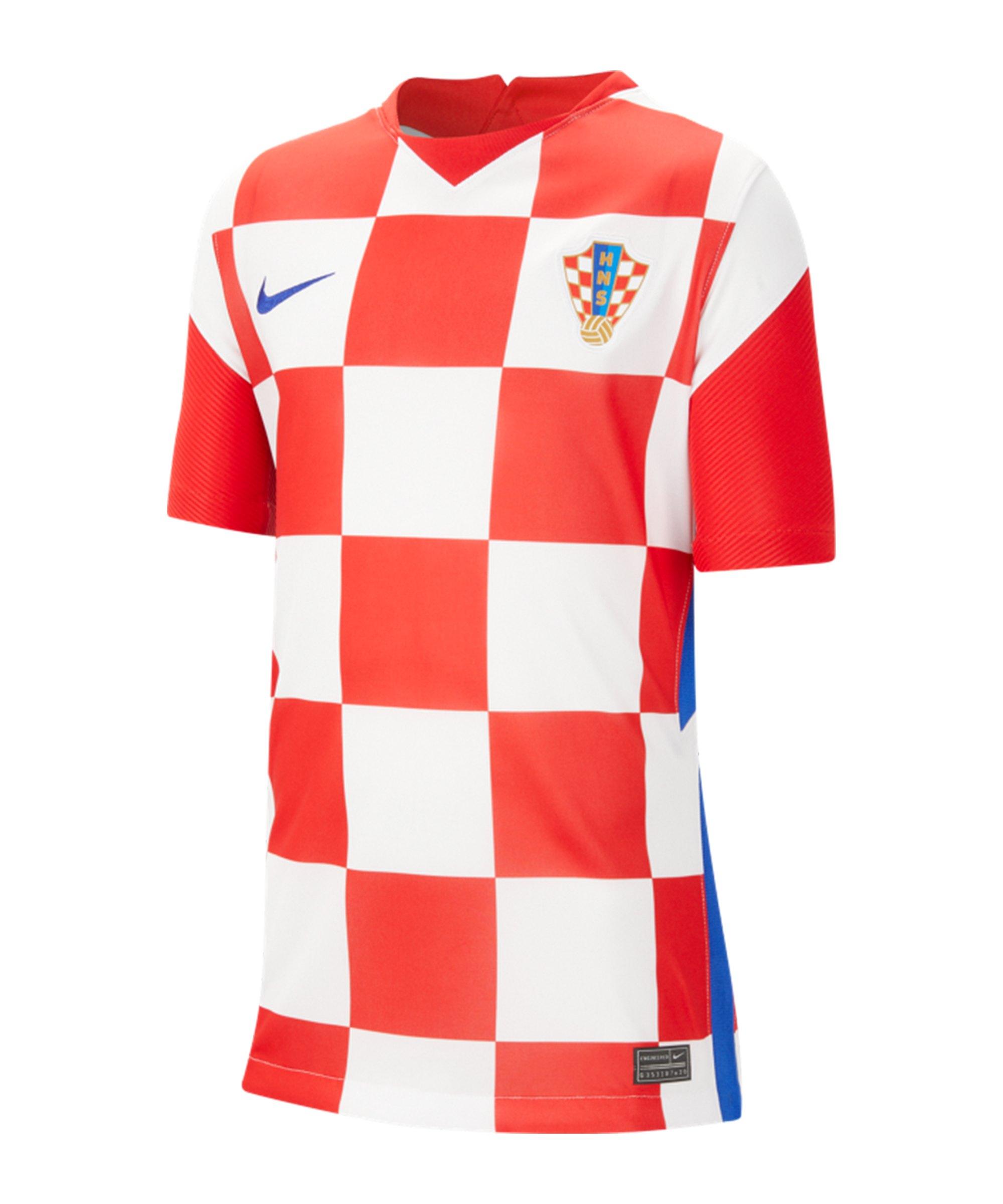 Nike Kroatien Trikot Home EM 2020 Kids Weiss F100 - weiss