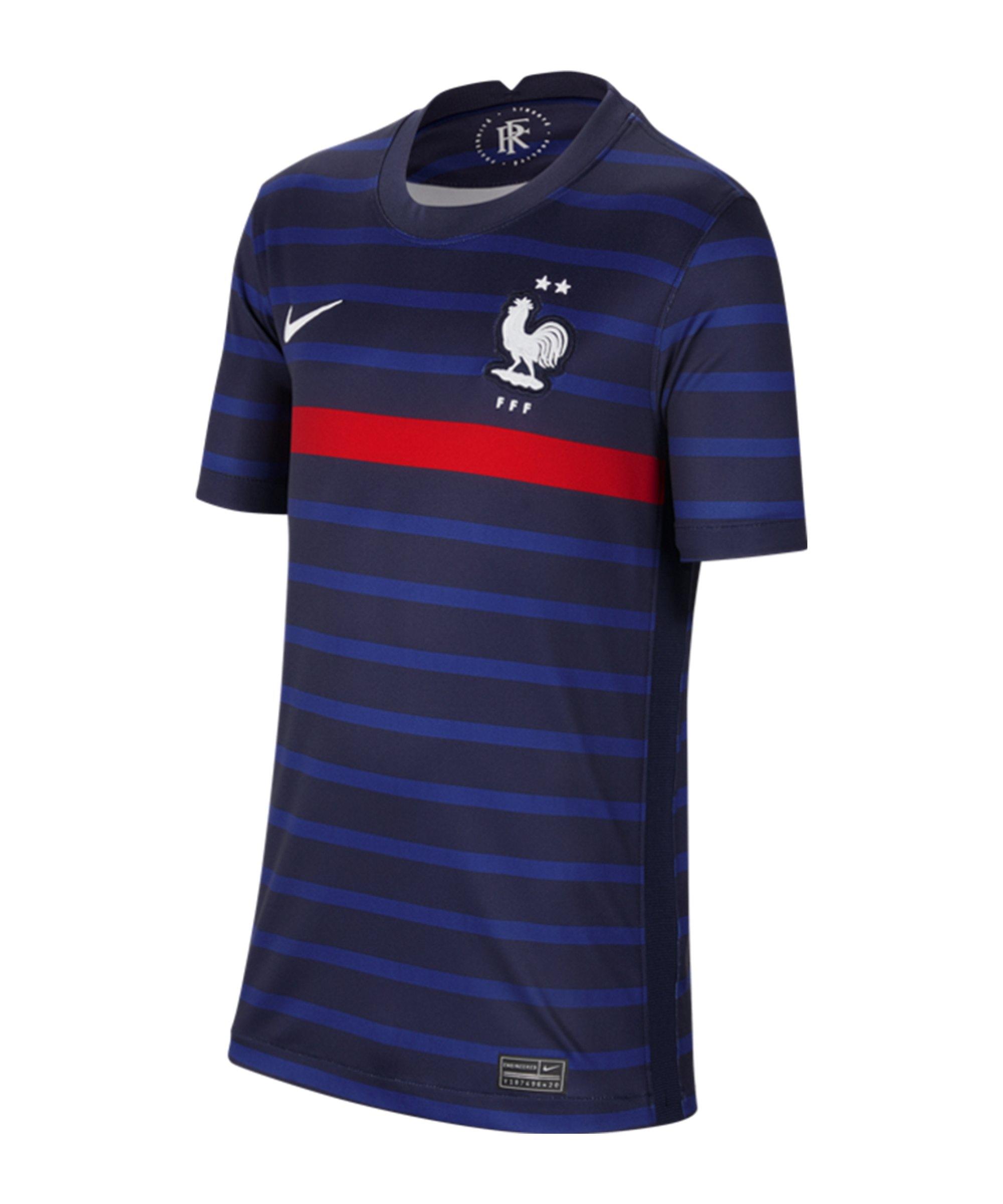 Nike Frankreich Trikot Home EM 2020 Kids F498 - blau