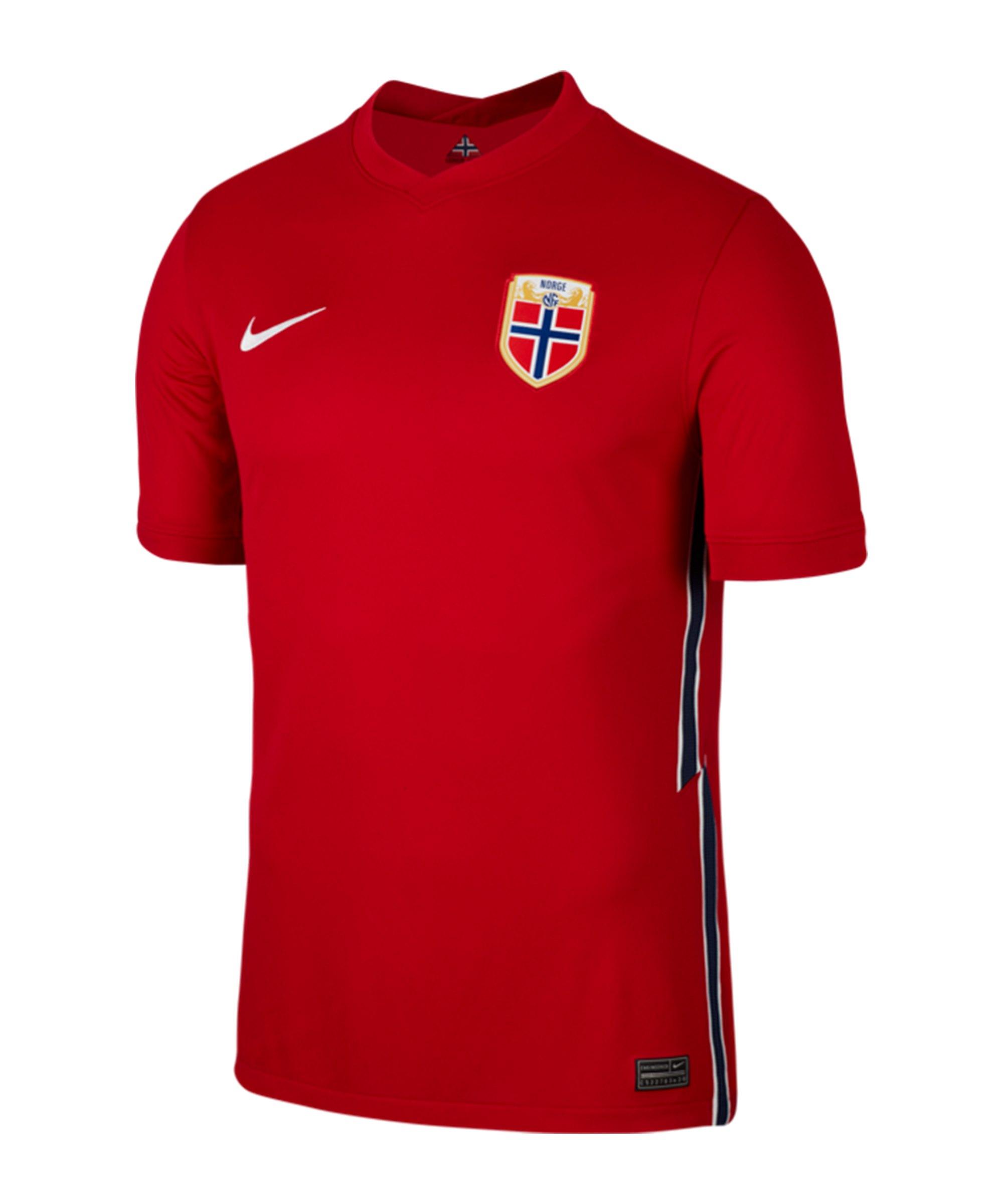 Nike Norwegen Trikot Home EM 2021 Kids Rot - rot