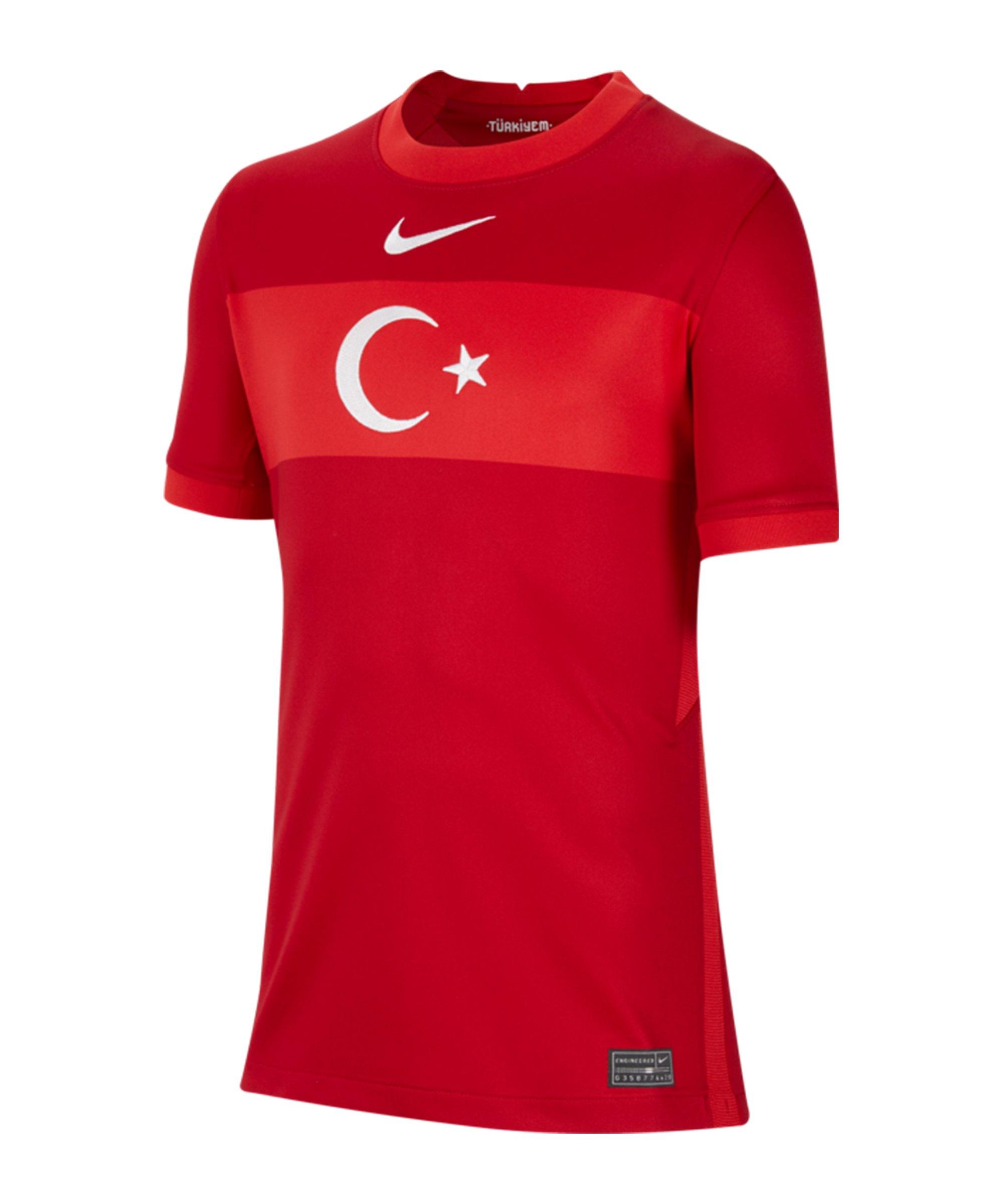 Nike Türkei Trikot Away EM 2020 Kids Rot F687 - rot