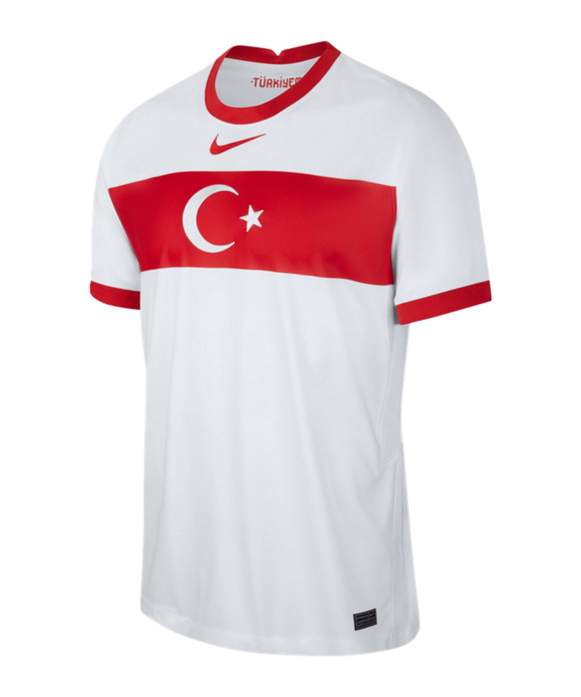 Nike Türkei Trikot Home EM 2020 Kids Weiss F100 - weiss
