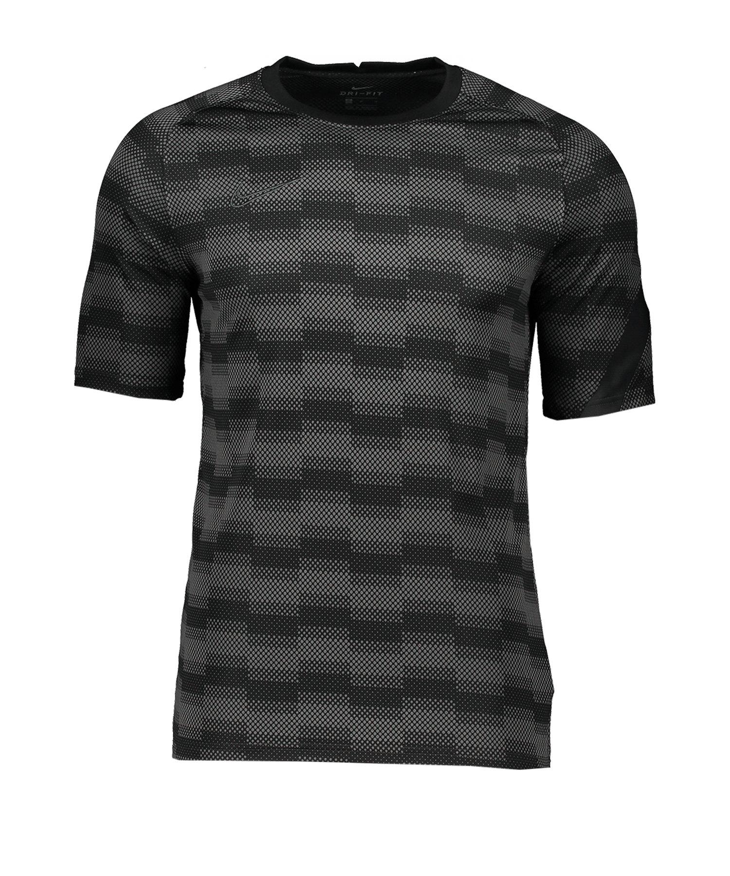 Nike Academy Trainingsshirt Schwarz Grau F010 - schwarz