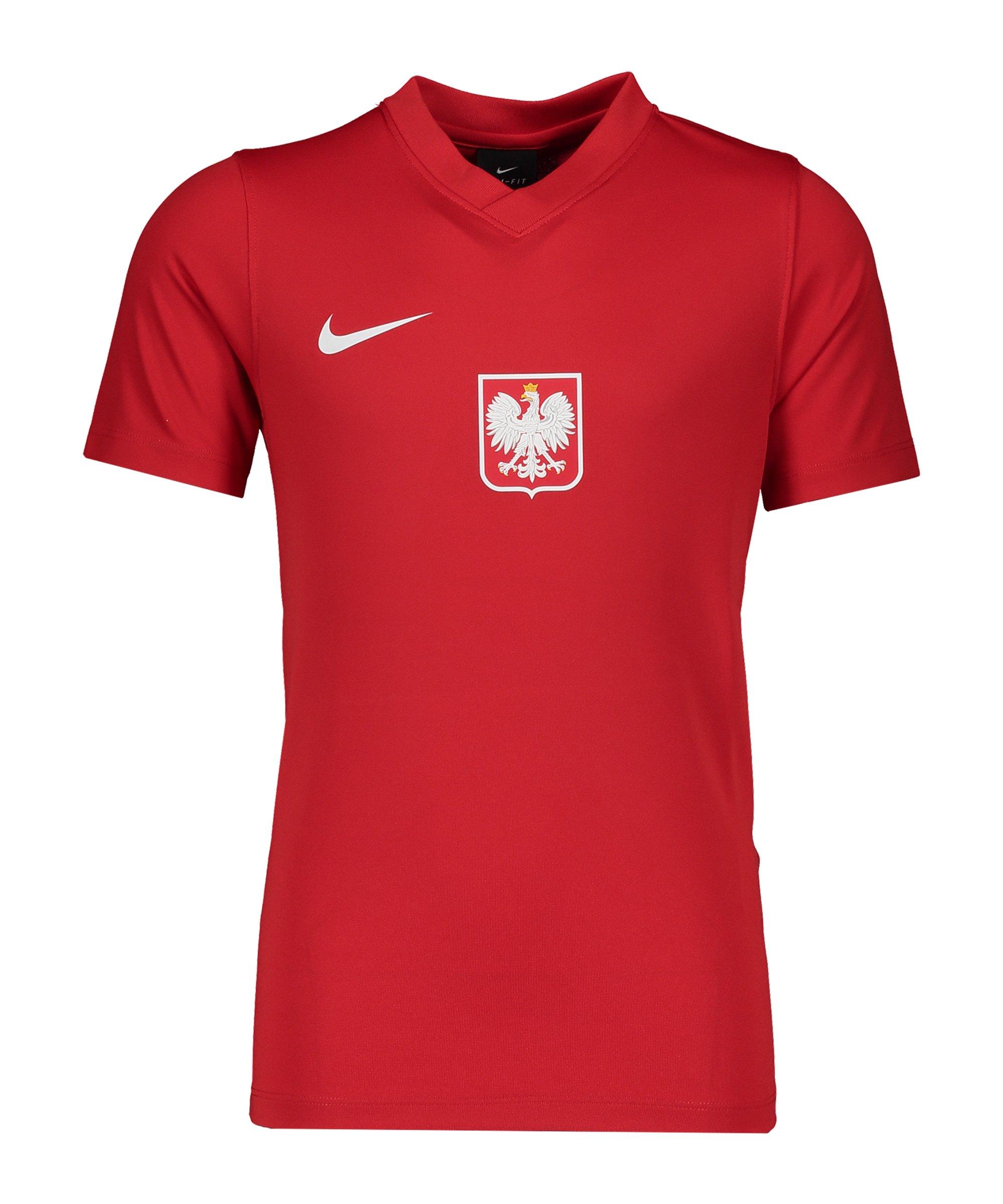 Nike Polen Trainingstop kurzarm Kids Rot F688 - rot