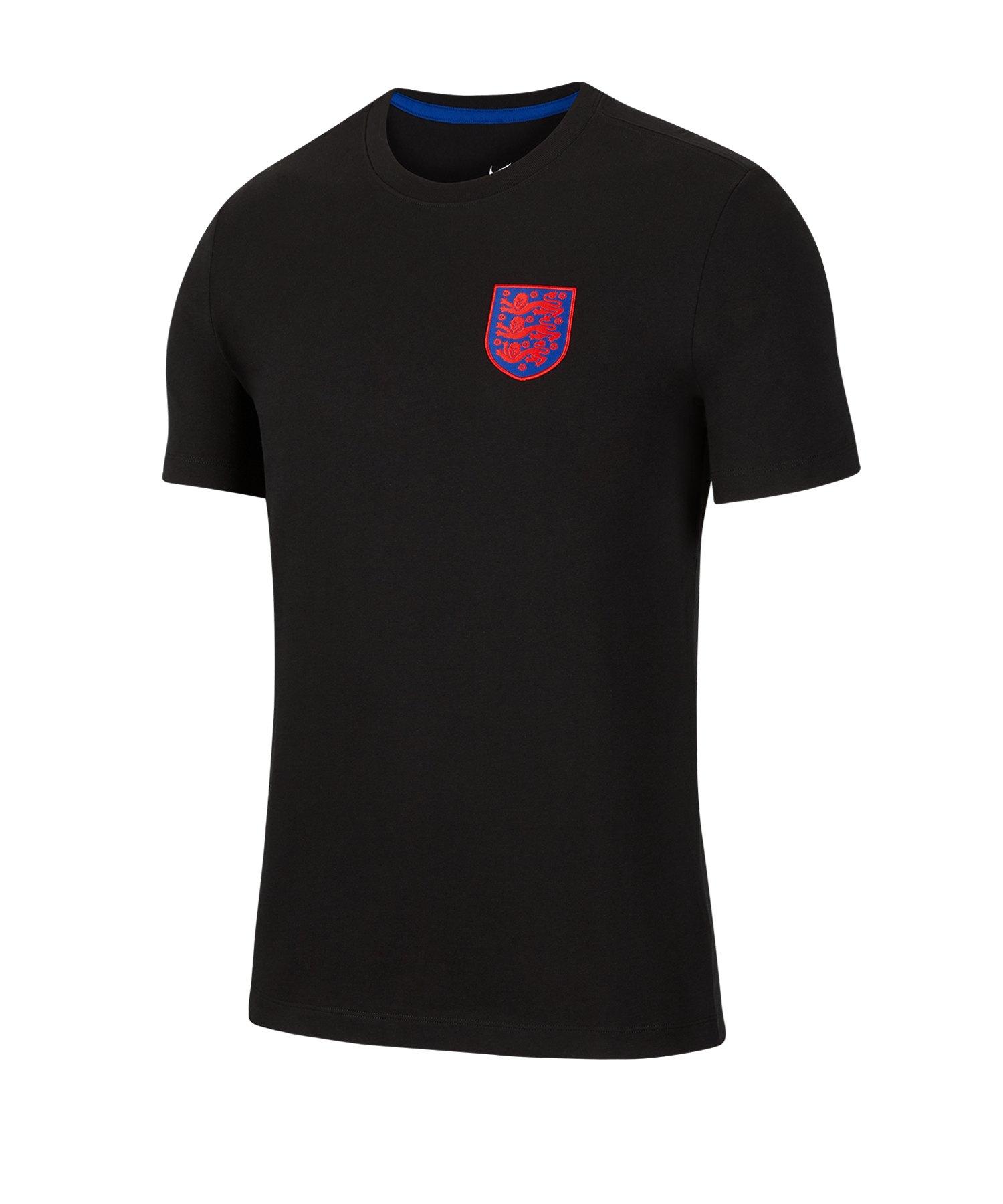 Nike England T-Shirt Schwarz F010 - schwarz