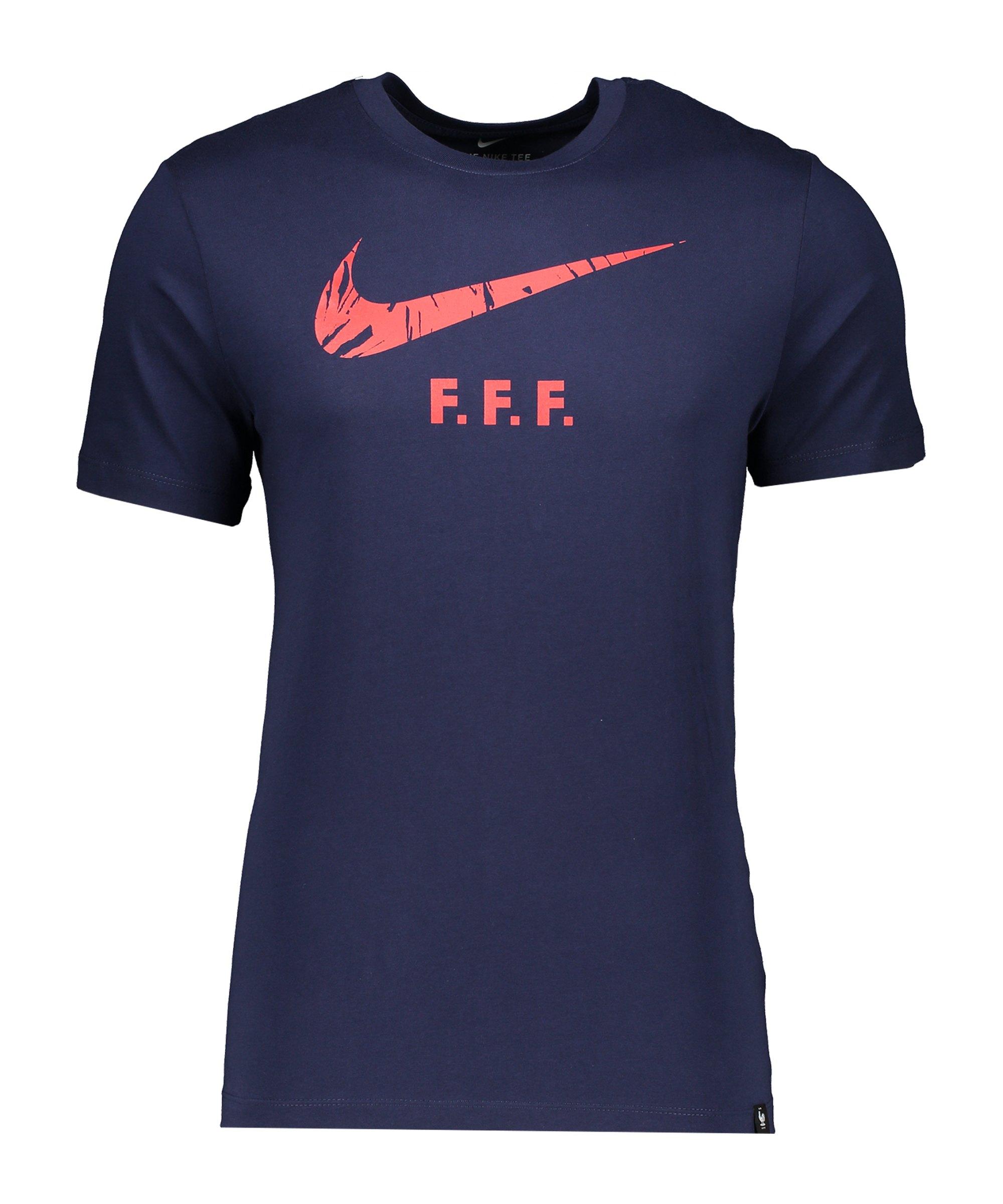 Nike Frankreich Ground Tee T-Shirt Blau F498 - blau