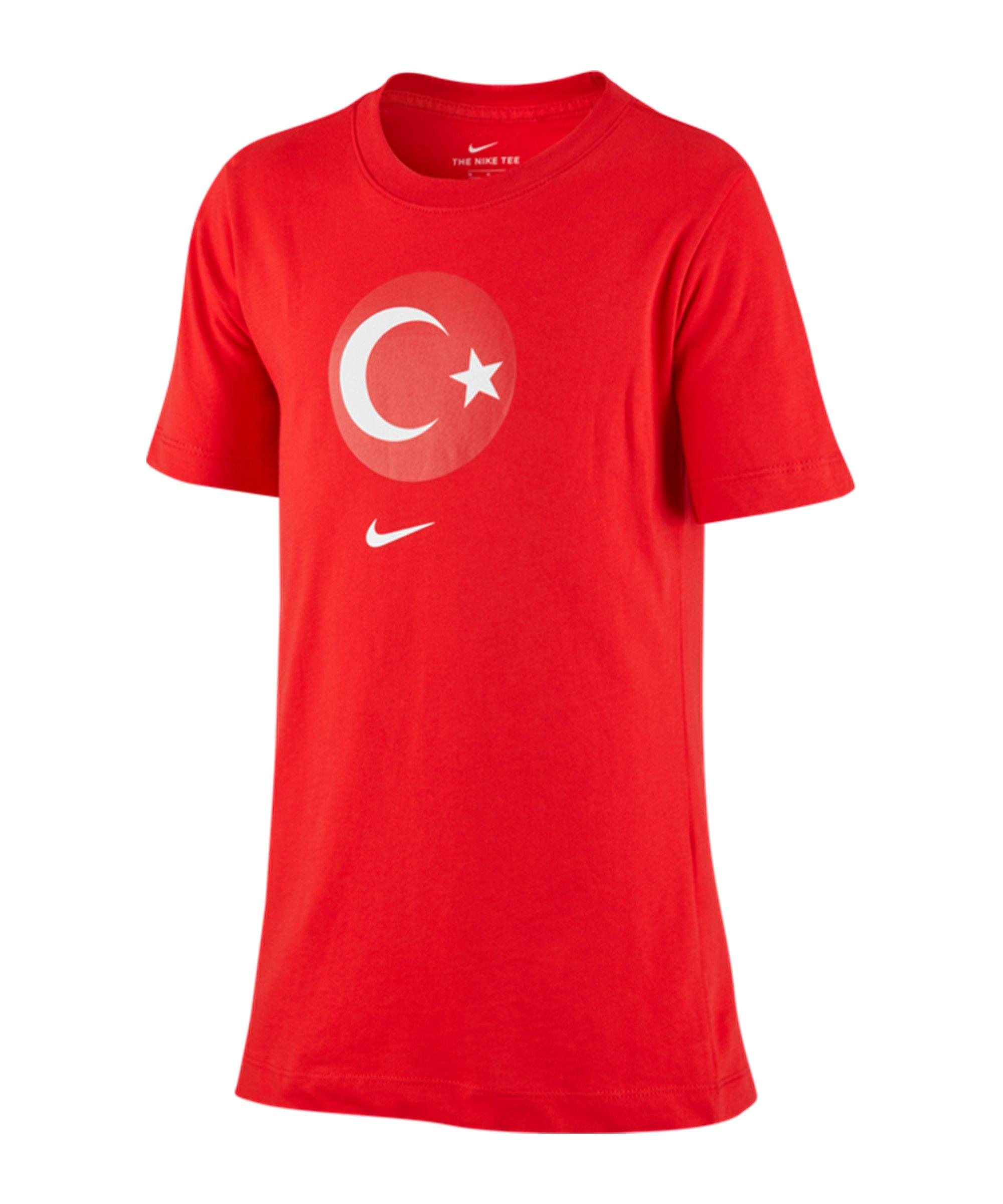 Nike Türkei Evergreen Crest T-Shirt Kids Rot F657 - rot