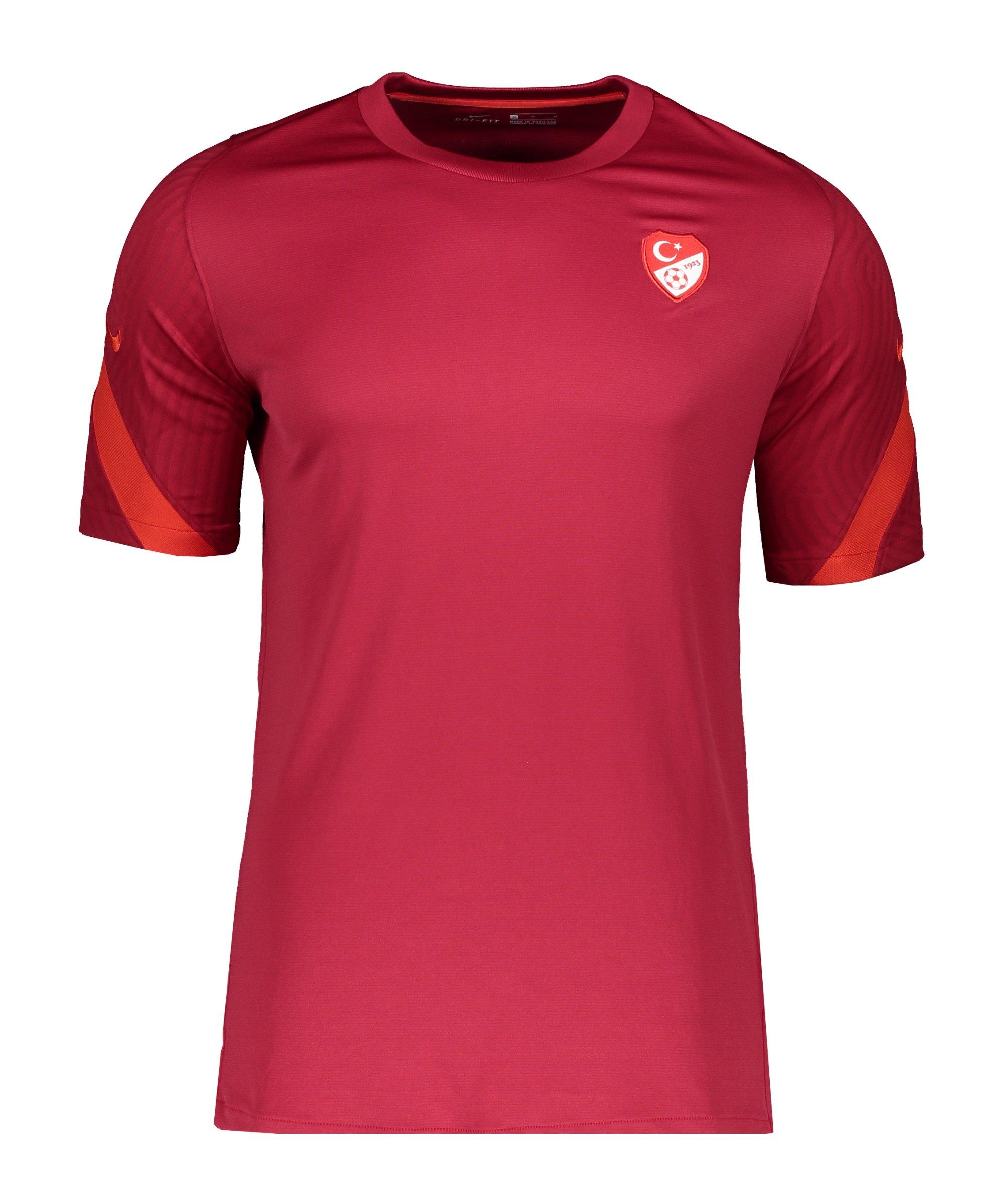 Nike Türkei Trainingstop kurzarm Rot F618 - rot