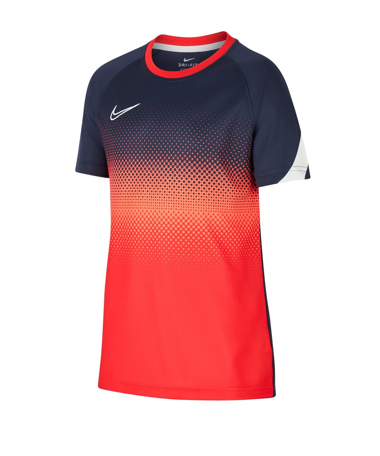 Nike Academy Trainingstop kurzarm Kids F451 - blau