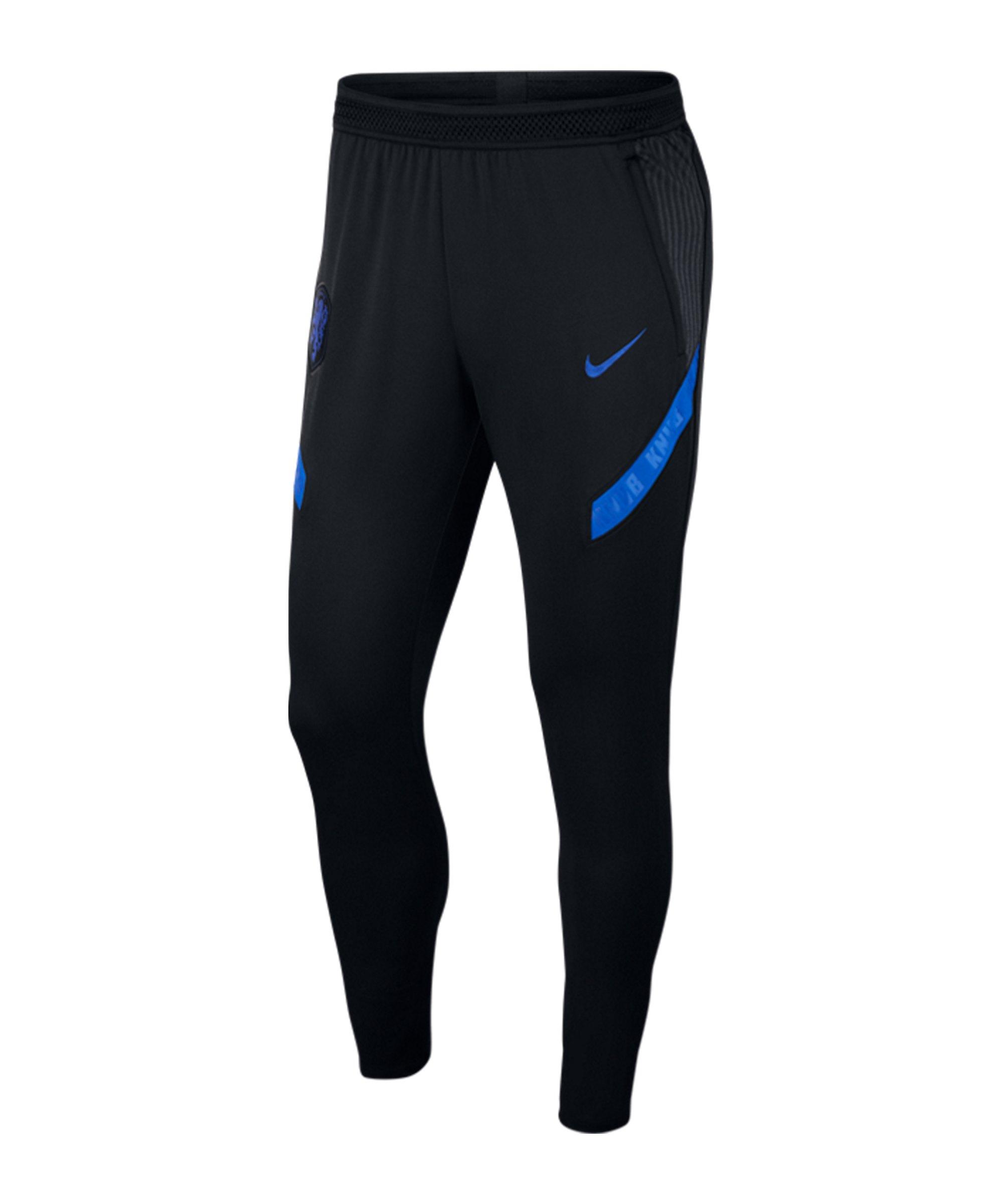 Nike Niederlande Strike Hose lang Schwarz F010 - schwarz