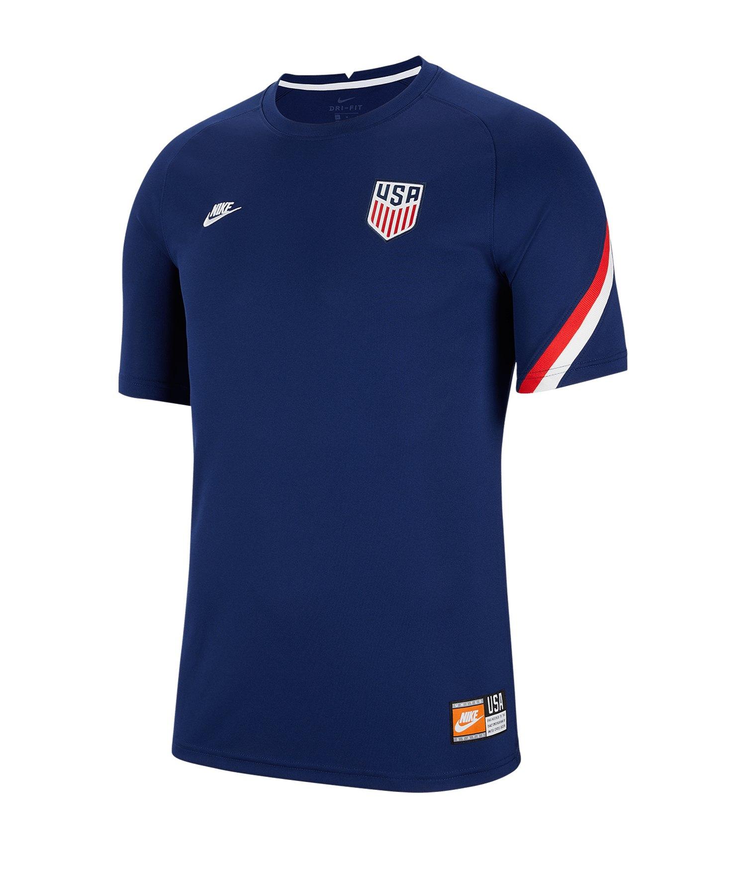 Nike USA Top Trainingsshirt Blau F421 - blau