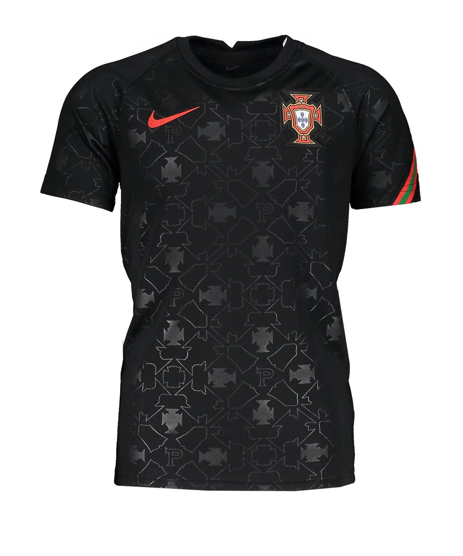 Nike Portugal Trainingstop kurzarm Kids F010 - schwarz