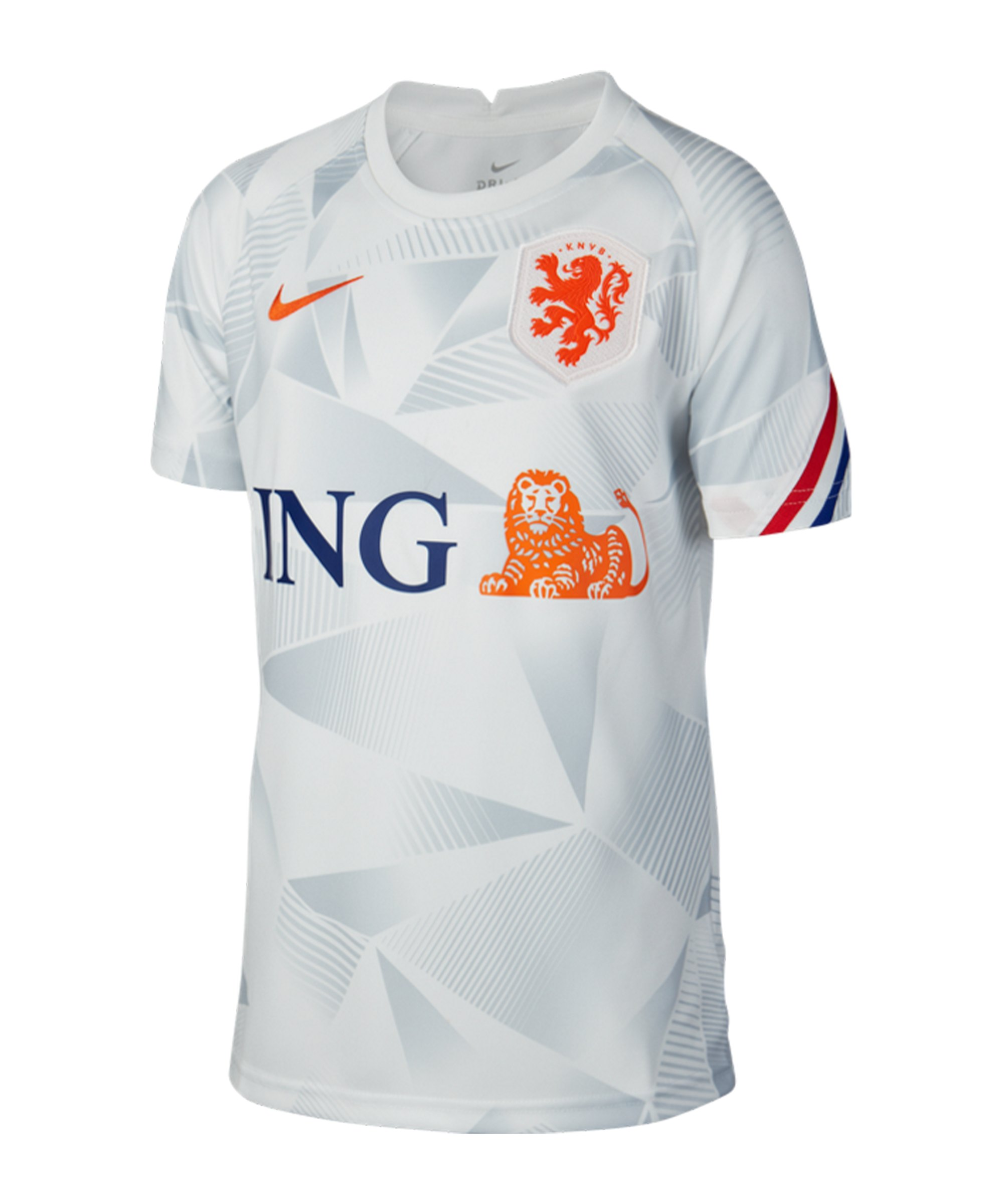 Nike Niederlande Trainingstop kurzarm Kids F101 - weiss