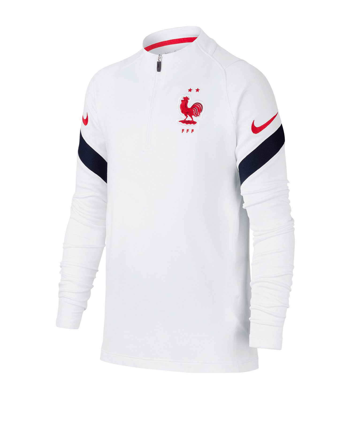 Nike Frankreich Strike 1/4 Top Kids LS F100 - weiss