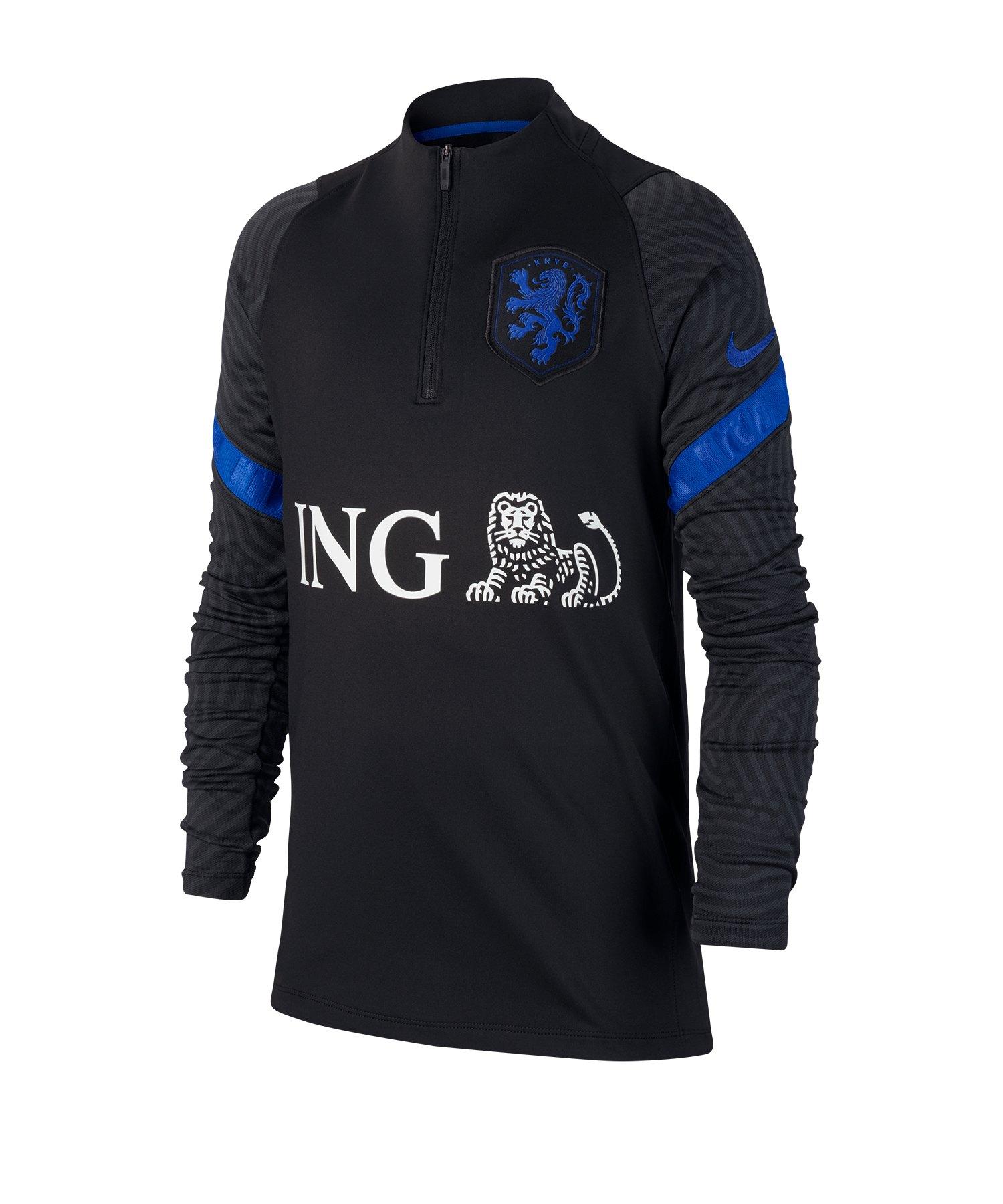 Nike Niederlande Dri-FIT 1/4 Zip Top LS Kids F011 - schwarz