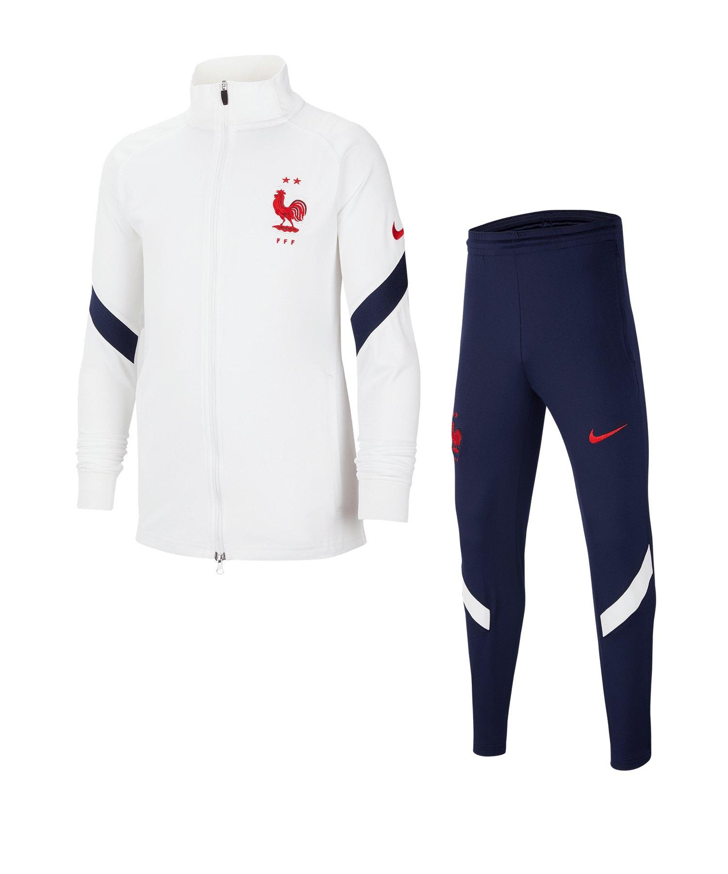 Nike Frankreich Dry Strike Trainingsanzug Kids F100 - weiss