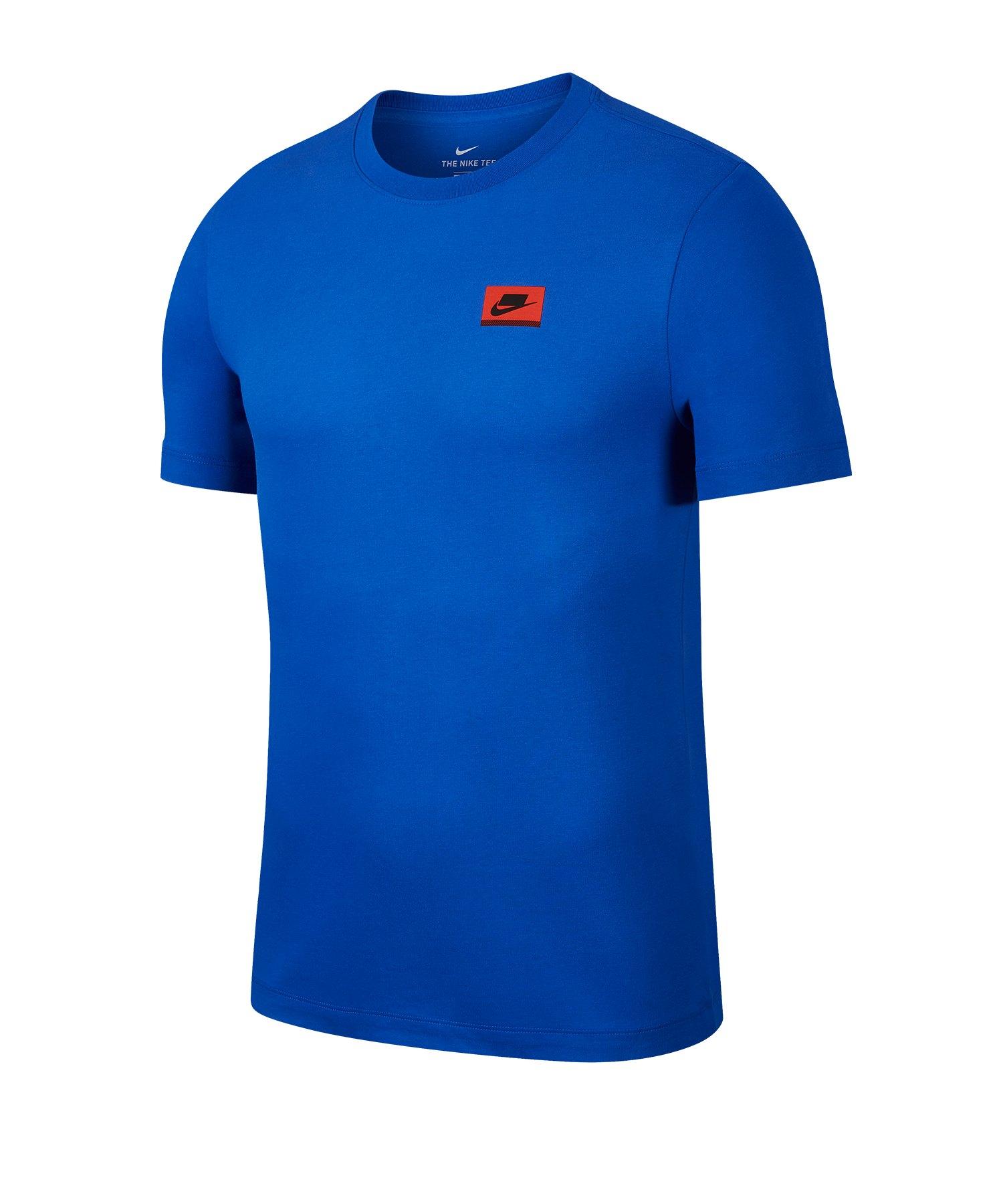 Nike Dri-FIT Tee T-Shirt Running Blau F480 - blau