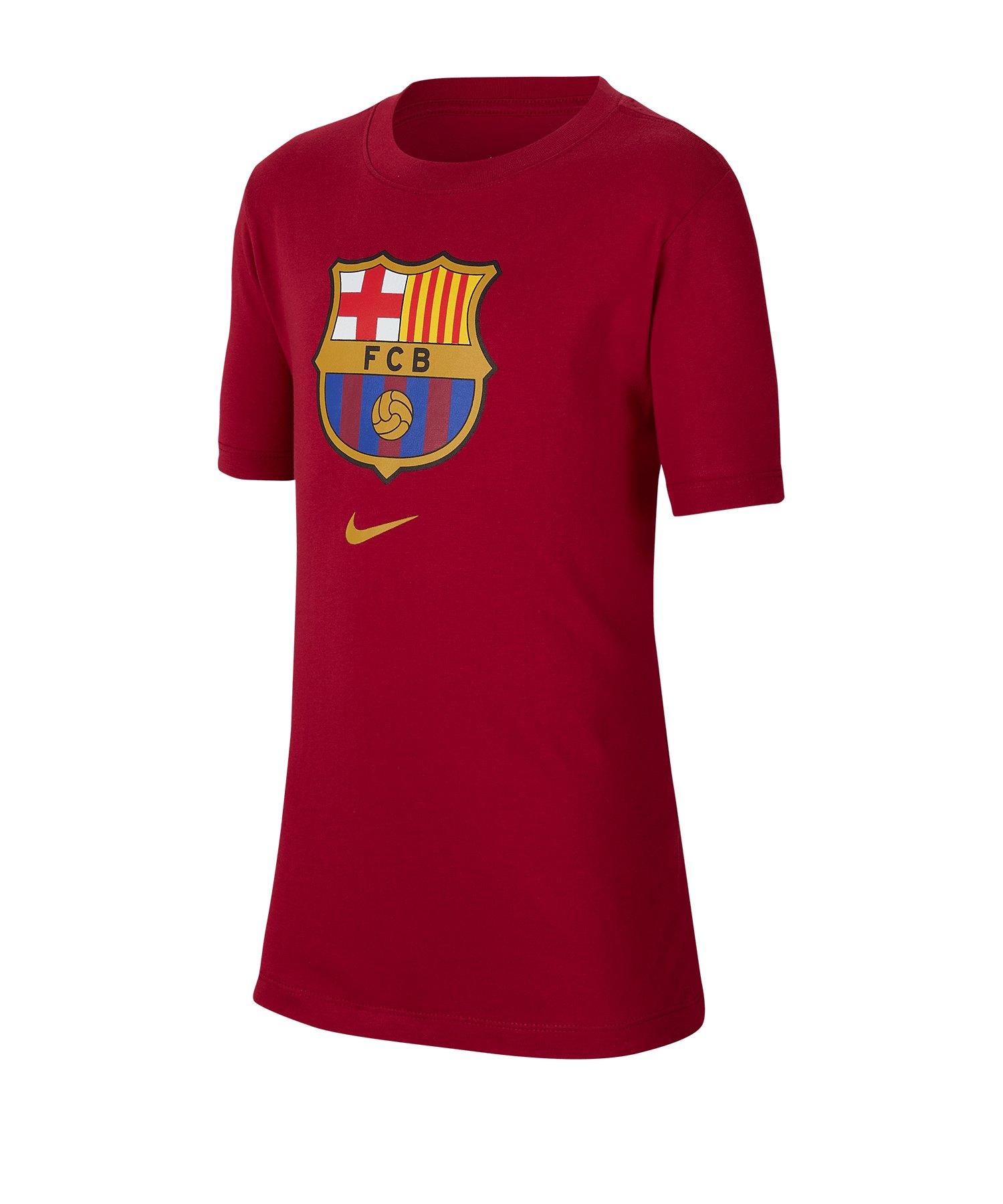 Nike FC Barcelona Tee T-Shirt Kids Rot F620 - rot
