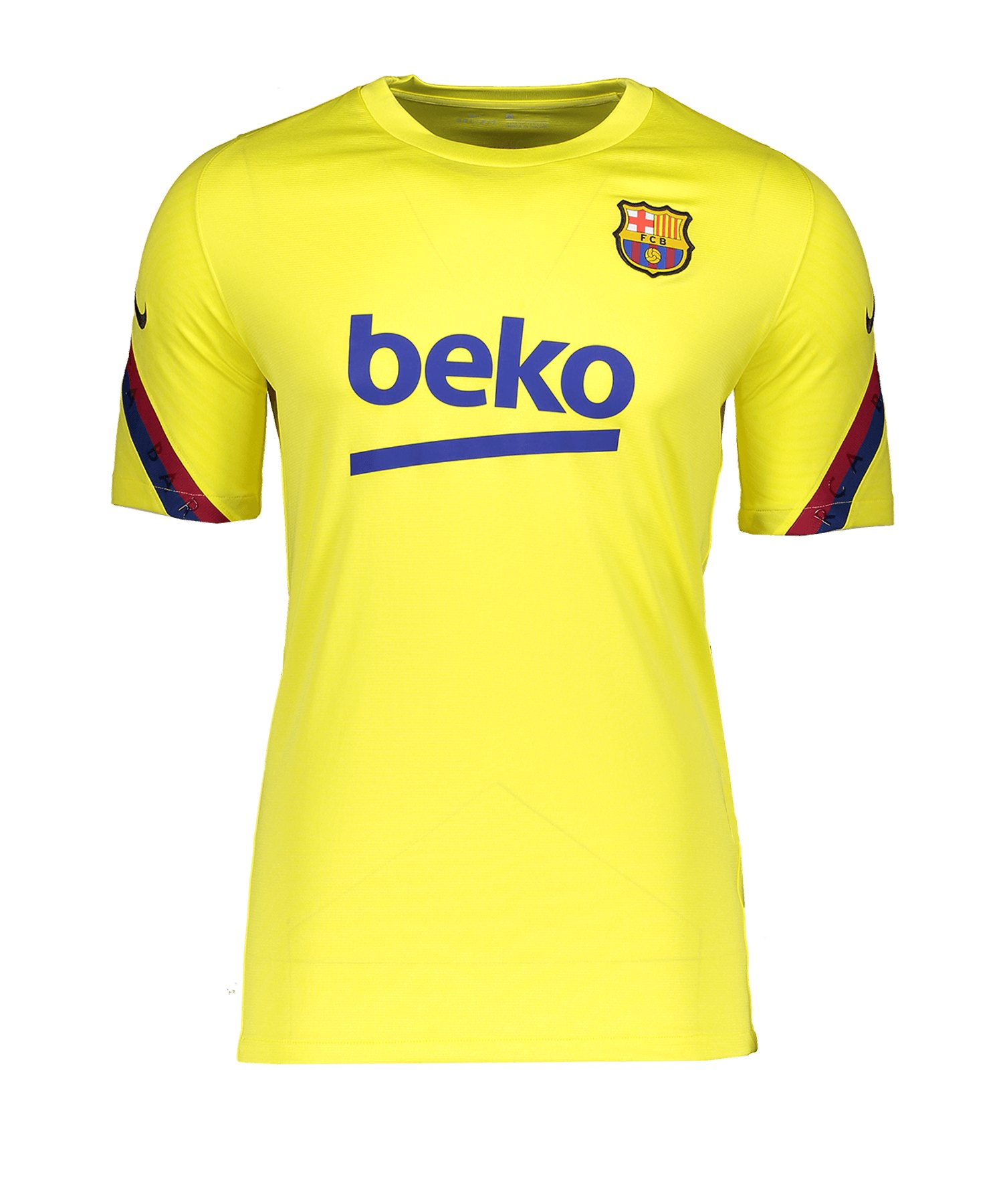 Nike FC Barcelona Shirt kurzarm Gelb F705 - gelb