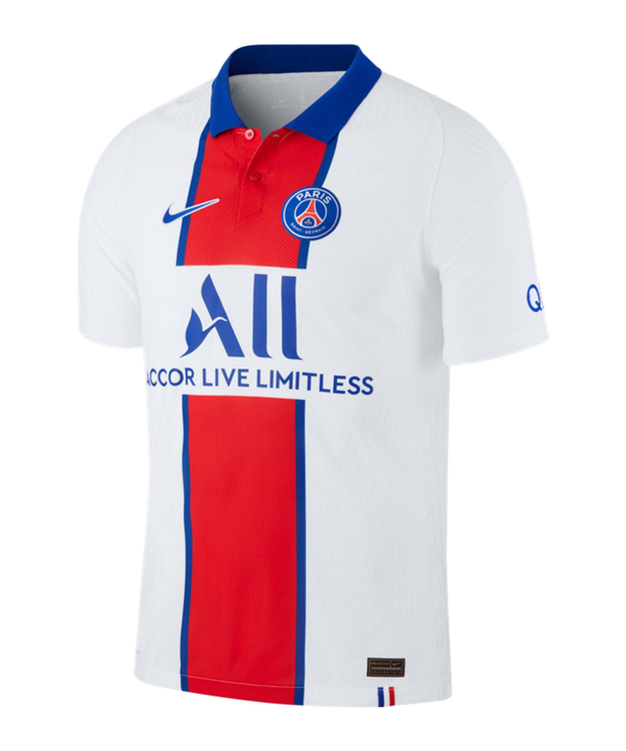 Nike Paris St.Germain Auth. Trikot Away 2020/2021 Weiss F101 - weiss