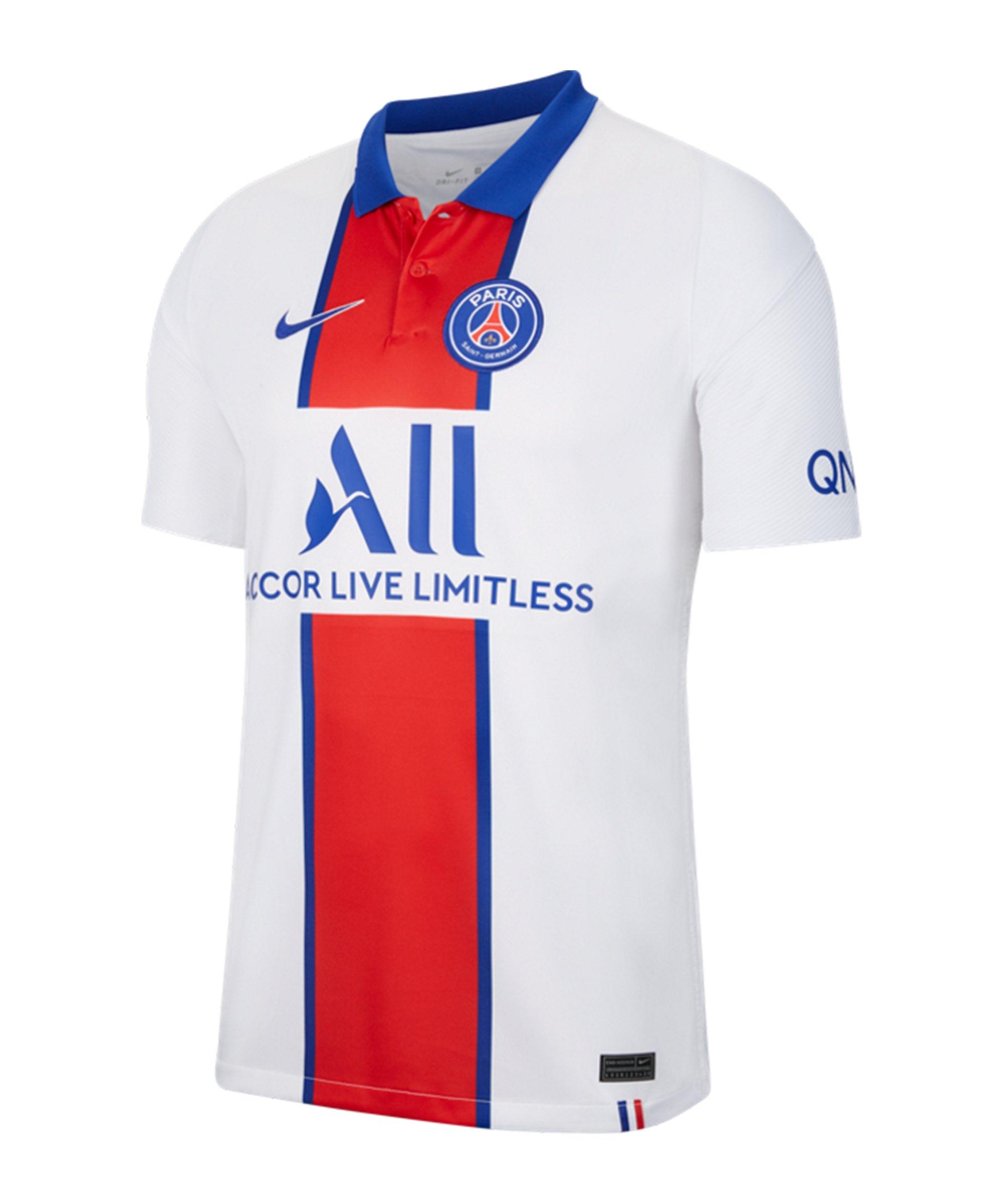 Nike Paris St. Germain Trikot Away 2020/2021 Weiss F101 - weiss